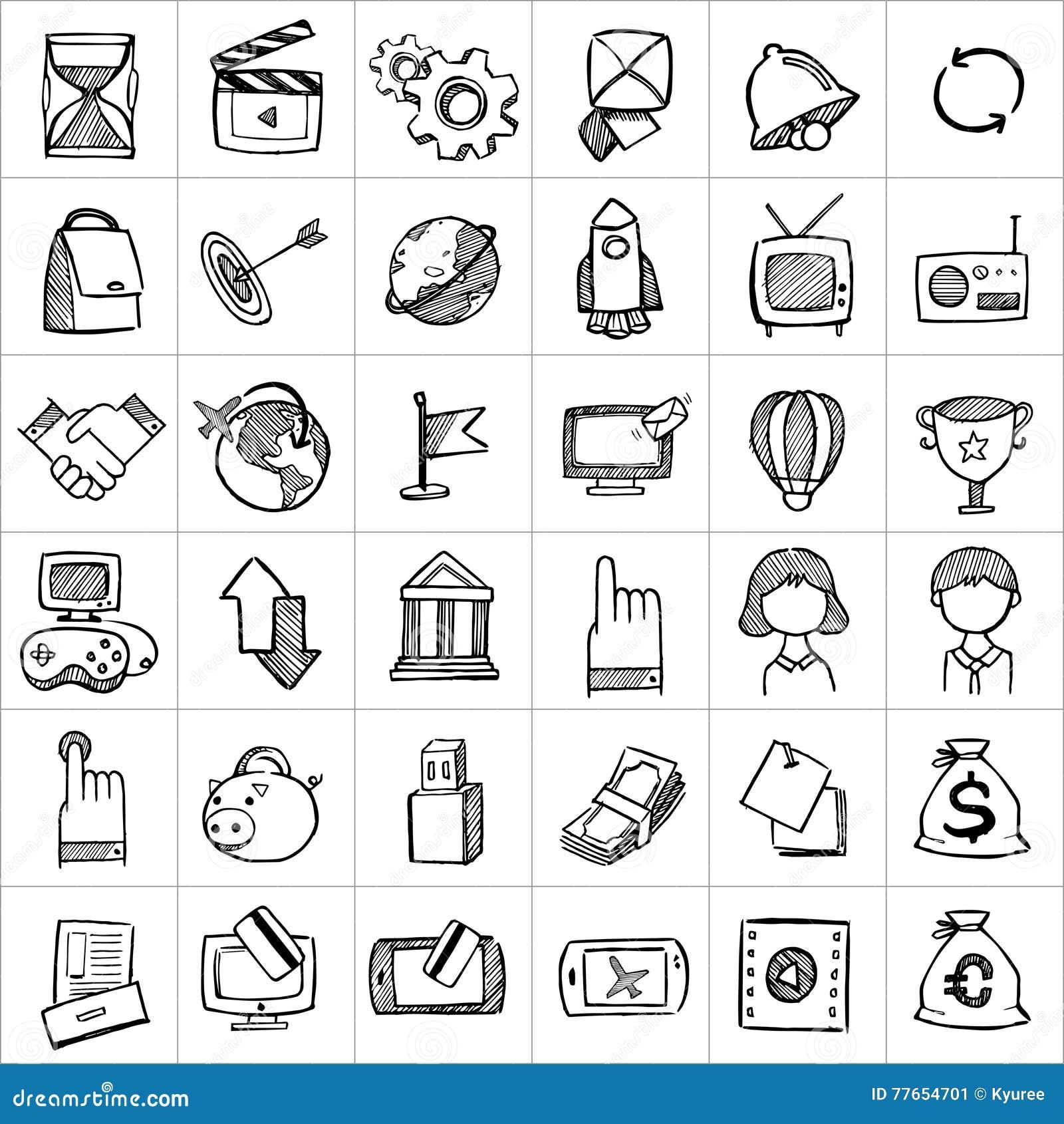 Ręki rysować ikony 004