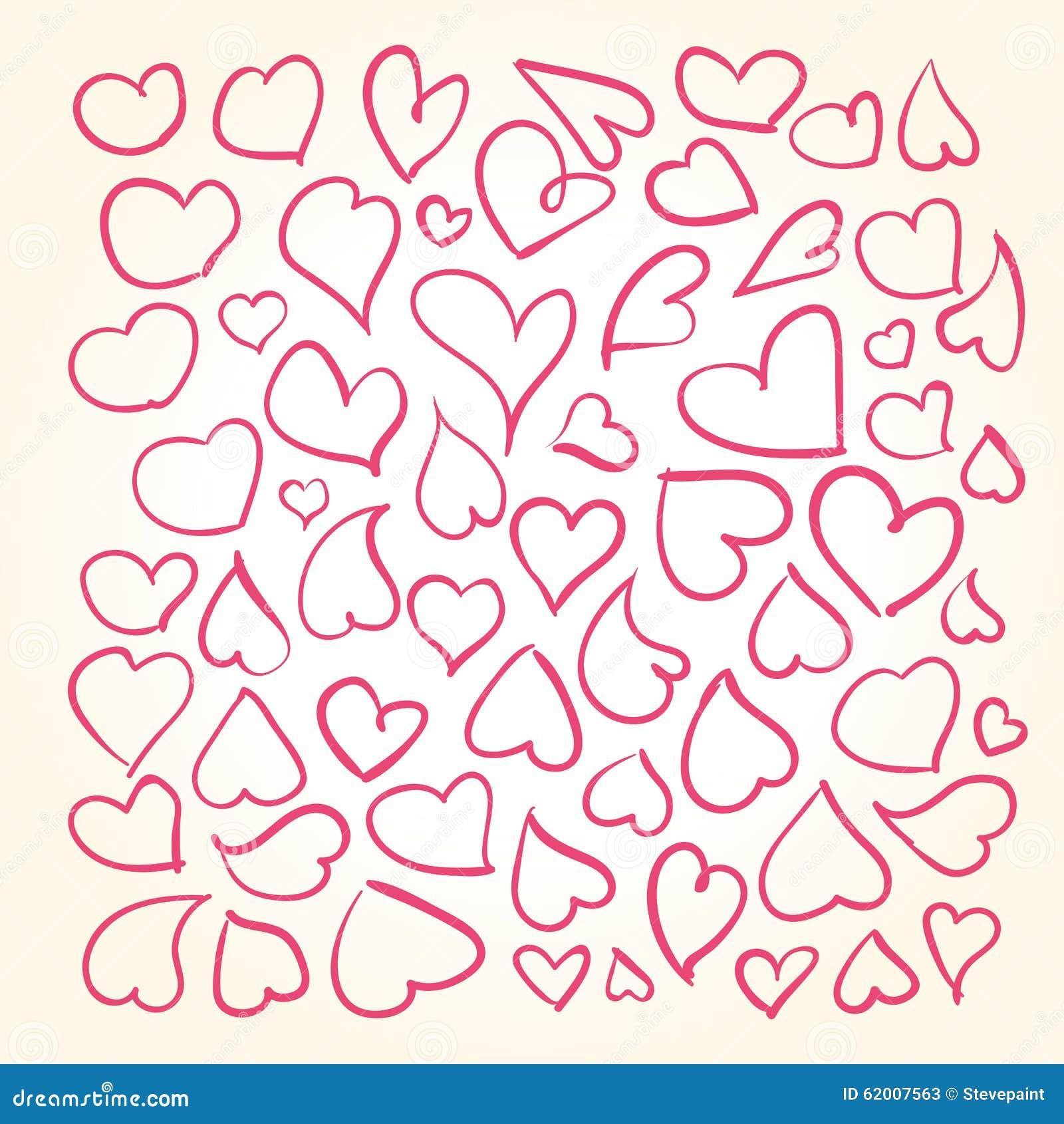 Ręki rysujący serca ustawiający