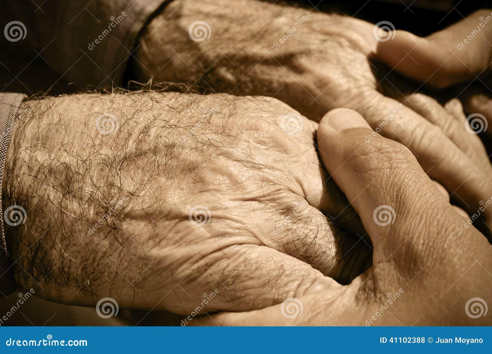 Ręki stary człowiek