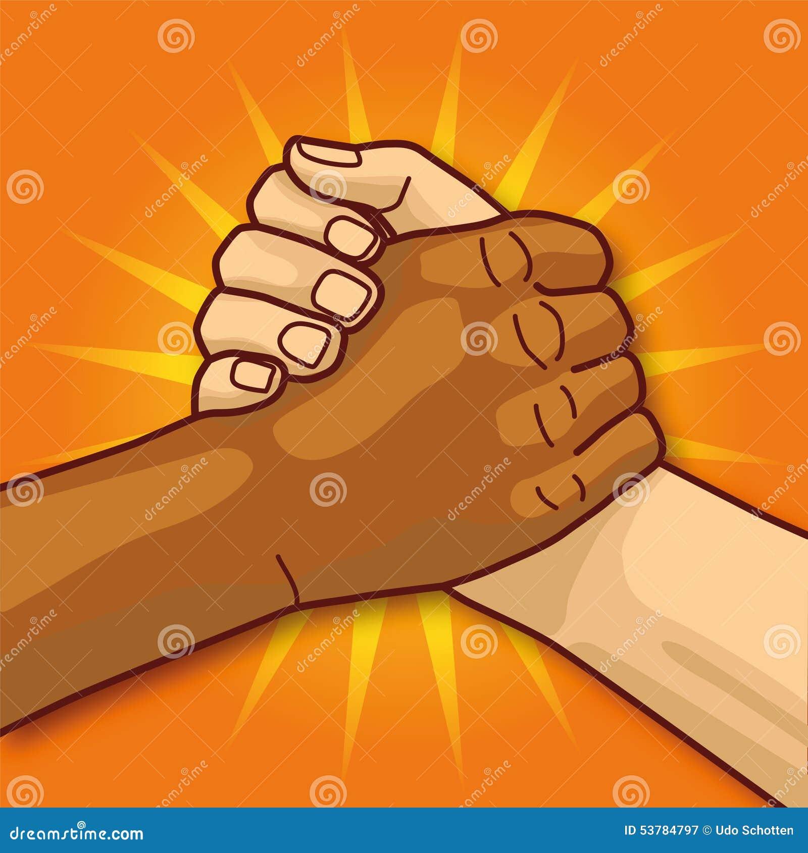 Ręki w uściskach dłoni i społeczności