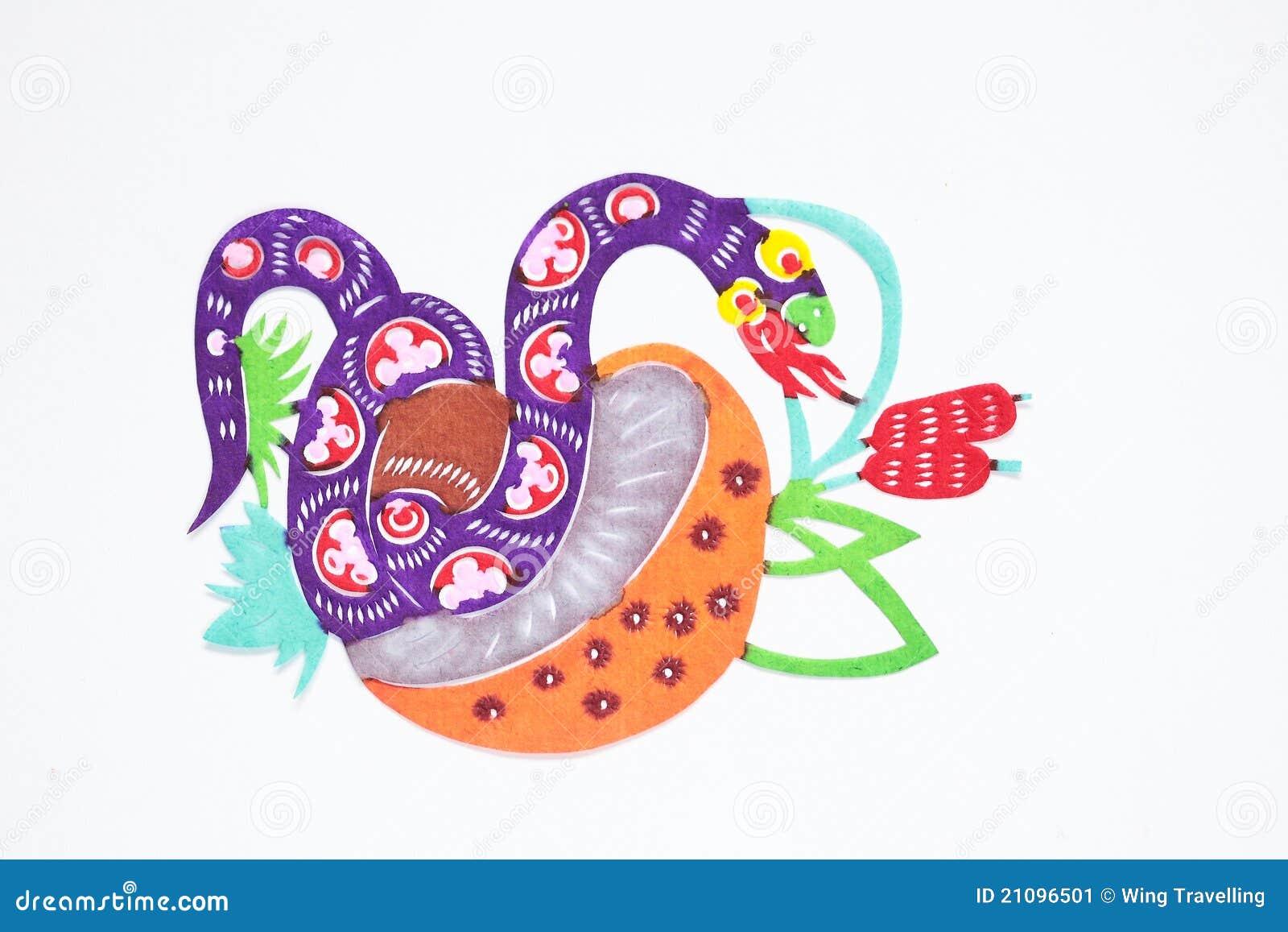 Rżnięty papierowy wąż