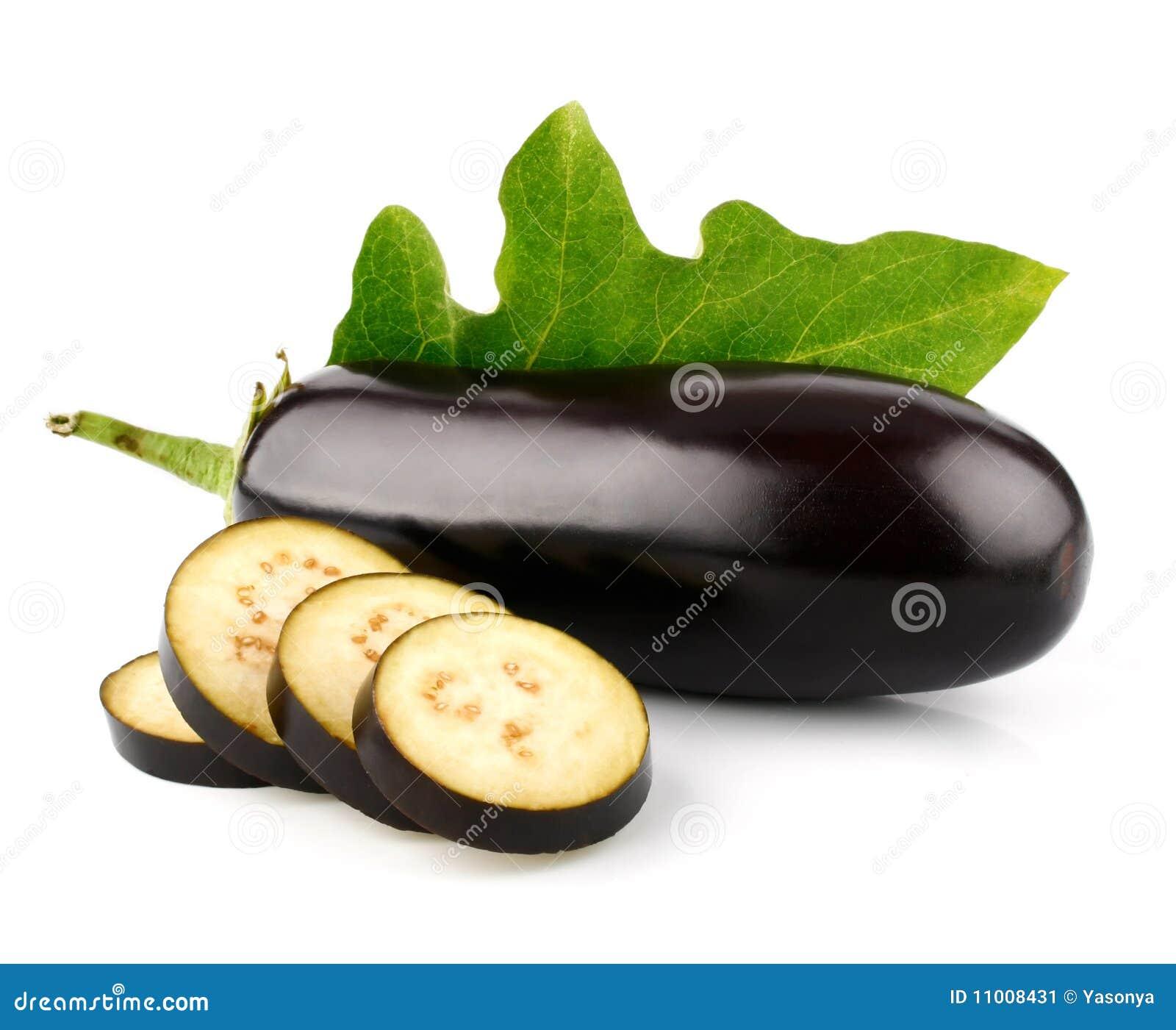 Rżniętych oberżyny owoc odosobniony warzywo