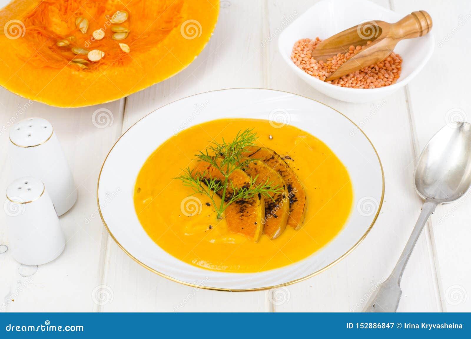 R 奶油色汤用扁豆和南瓜
