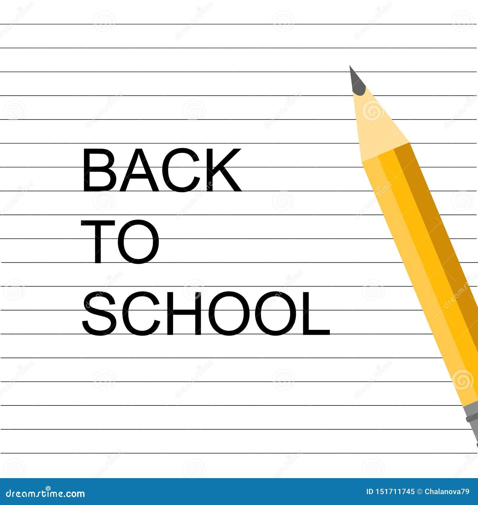 R 学校设计 在笔记本的铅笔 回到学校字法