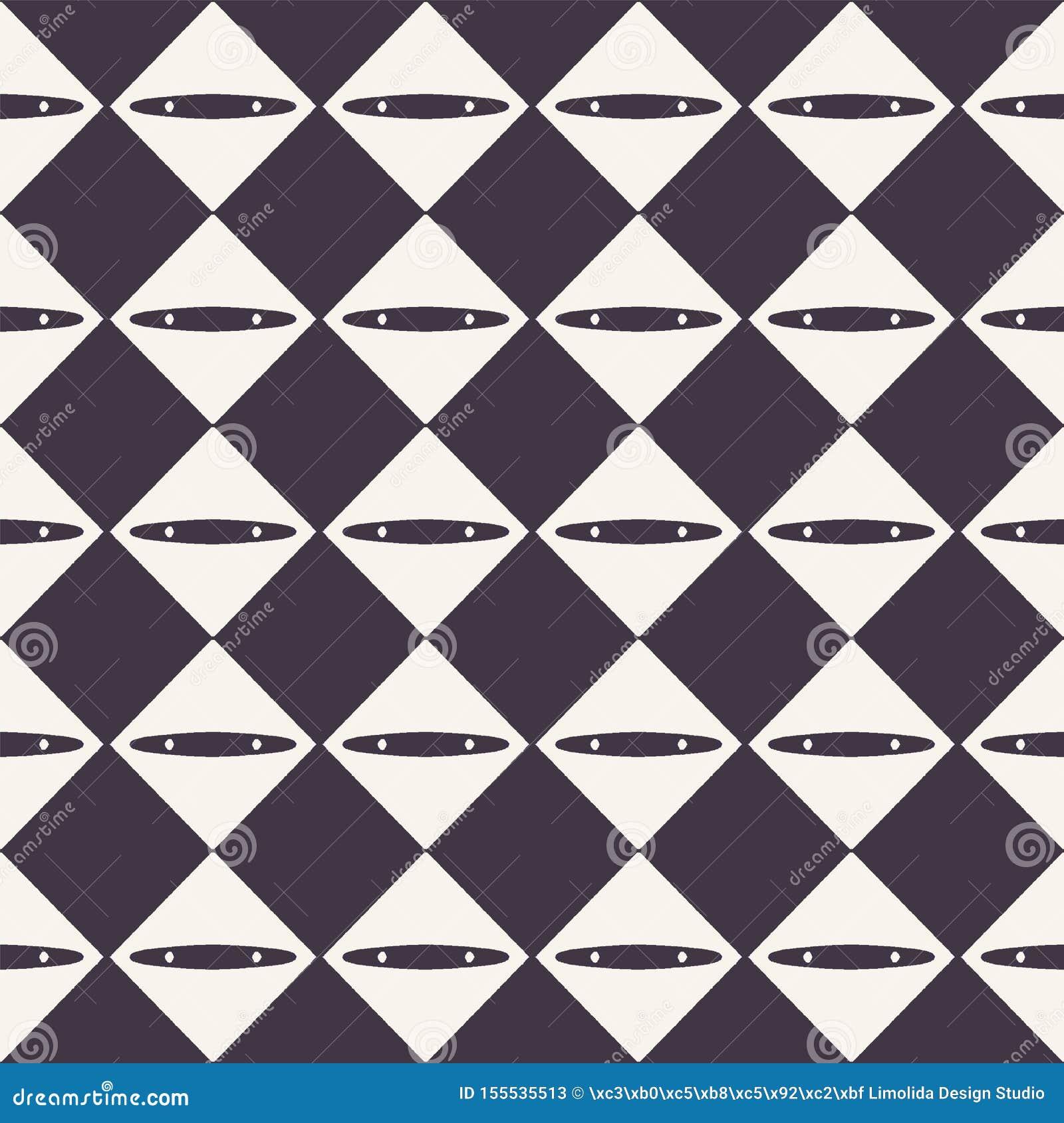 R 抽象金刚石棋盘背景 单色手拉的纹理例证 ??