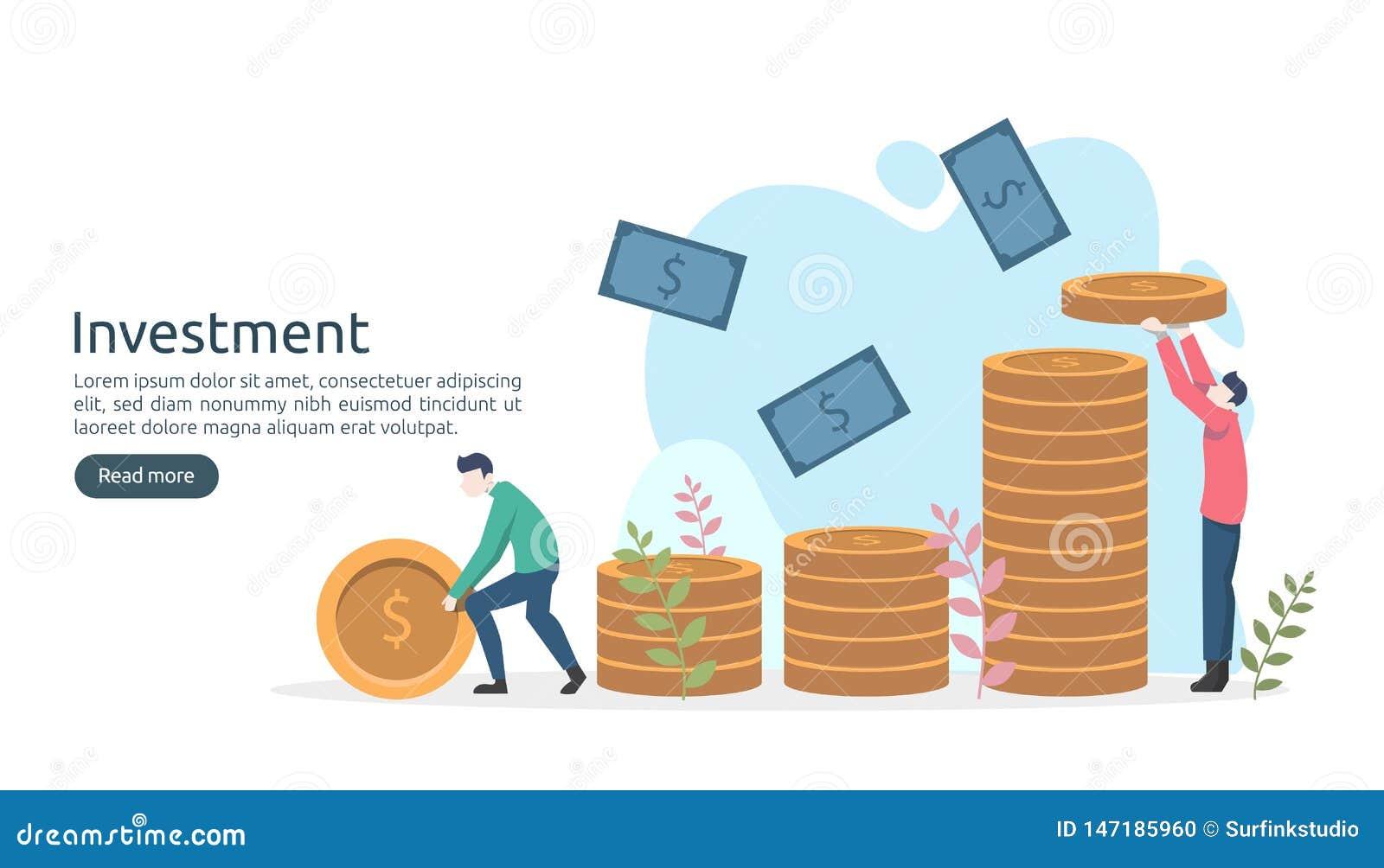 R 美元堆硬币,微小的人民,金钱对象 图表图增量 上升财政的成长
