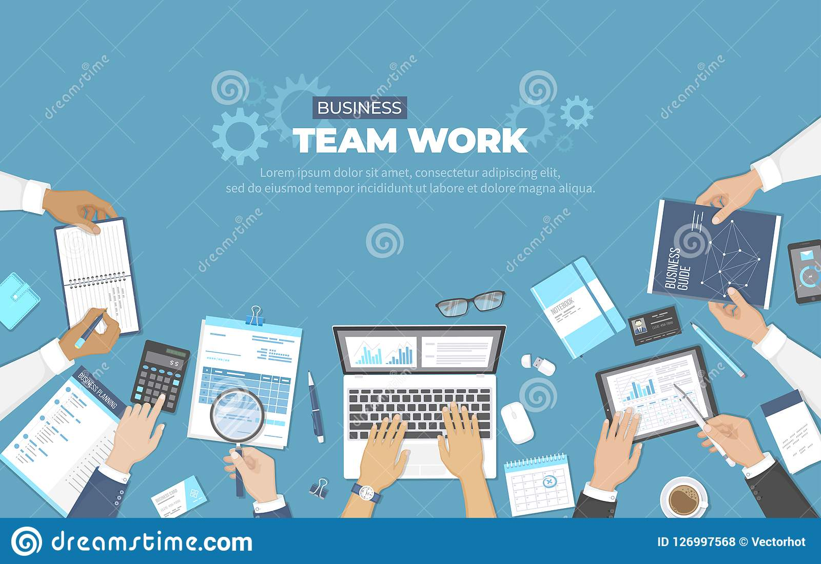 R Begrepp för kontorslagarbete Analys planläggning som konsulterar, projektledning Businessmans