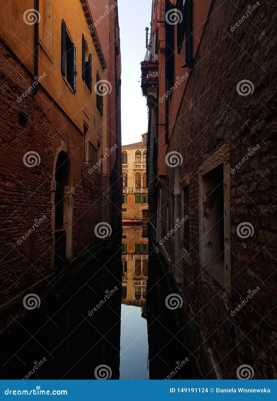 R?flexion dans un canal de Venise