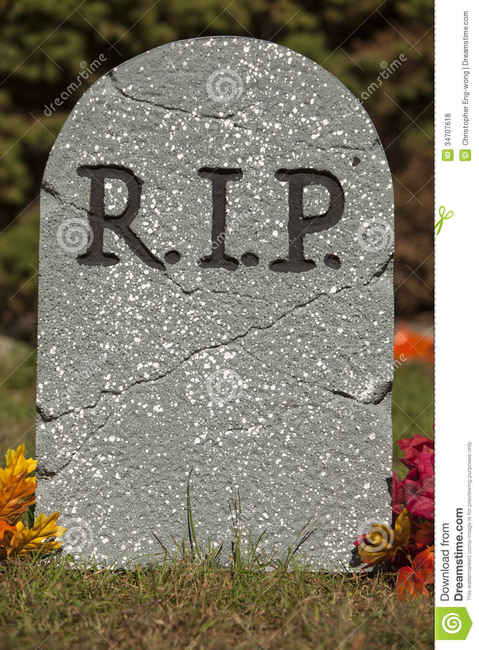 Grave Stone Royalty Free Stock Photos - Image: 34707618