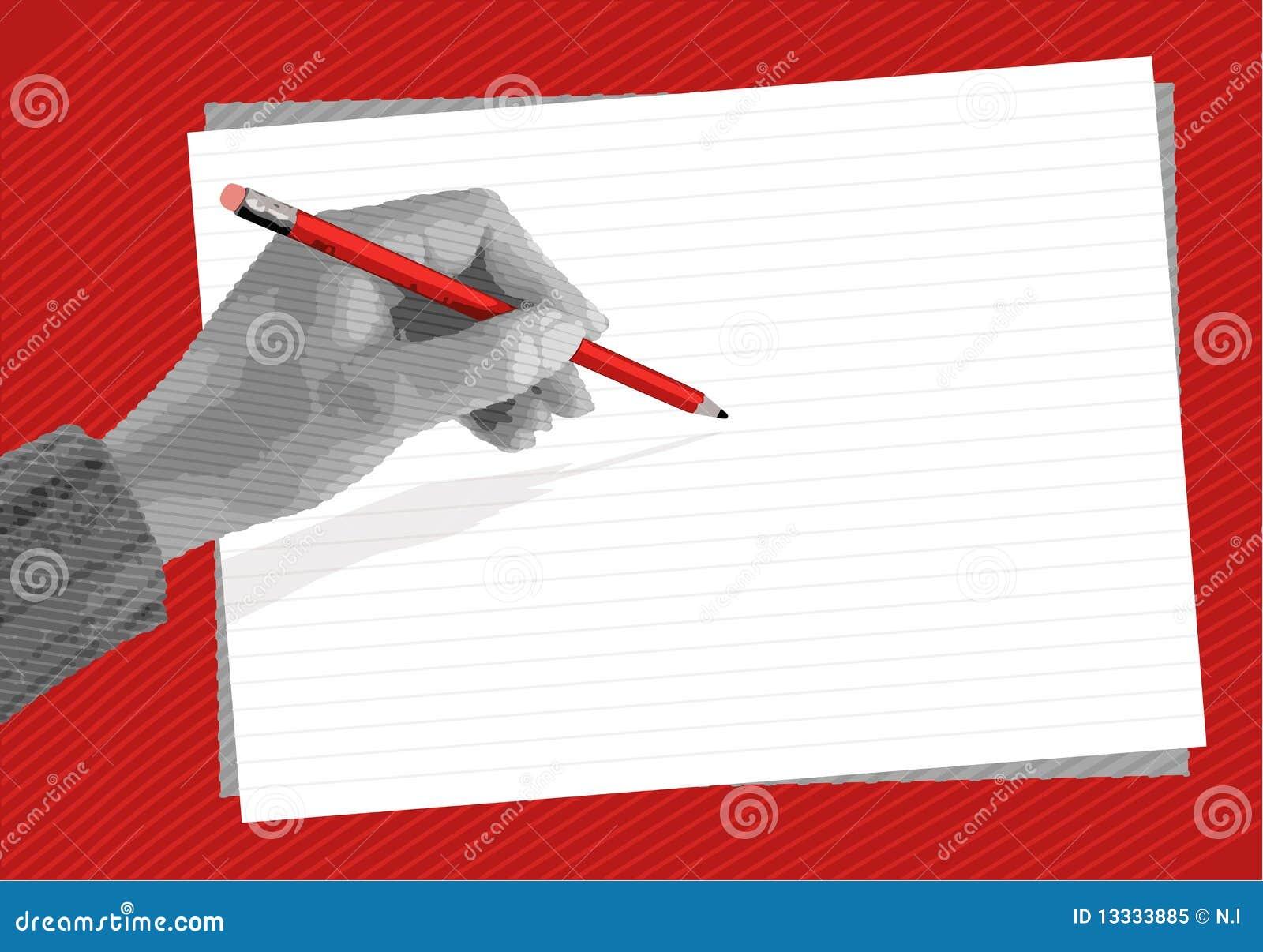 Ręki writing