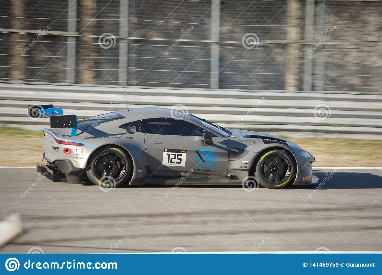 R Motorsport Aston Martin Vantage Gt3 On Track Editorial Stock Image Image Of Curbstone Event 141469759