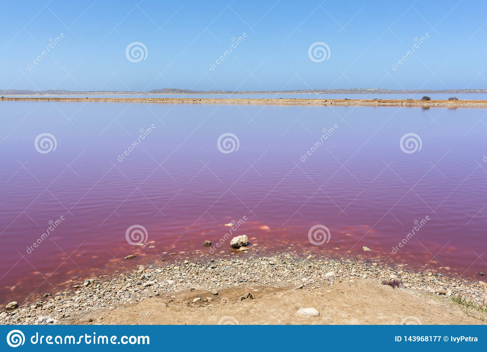 R??owa jeziorna budy laguna przy Portowym Gregory, zachodnia australia, Australia