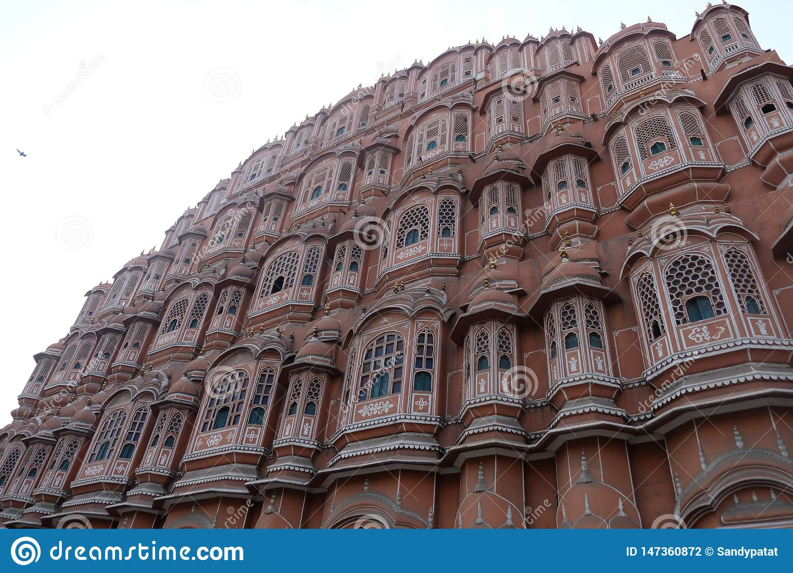 R??owy wiatrowy pa?ac w Jaipur, Rajasthan, India