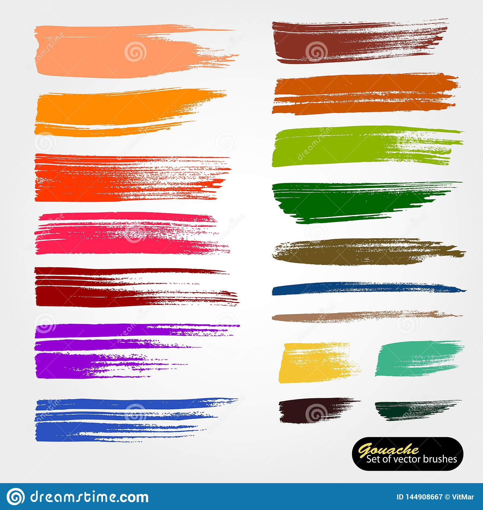 R Sparade palettmappborstar Kul?r m?larf?rg, akrylborste, gouasheborsteslagl?ngd, linje eller textur