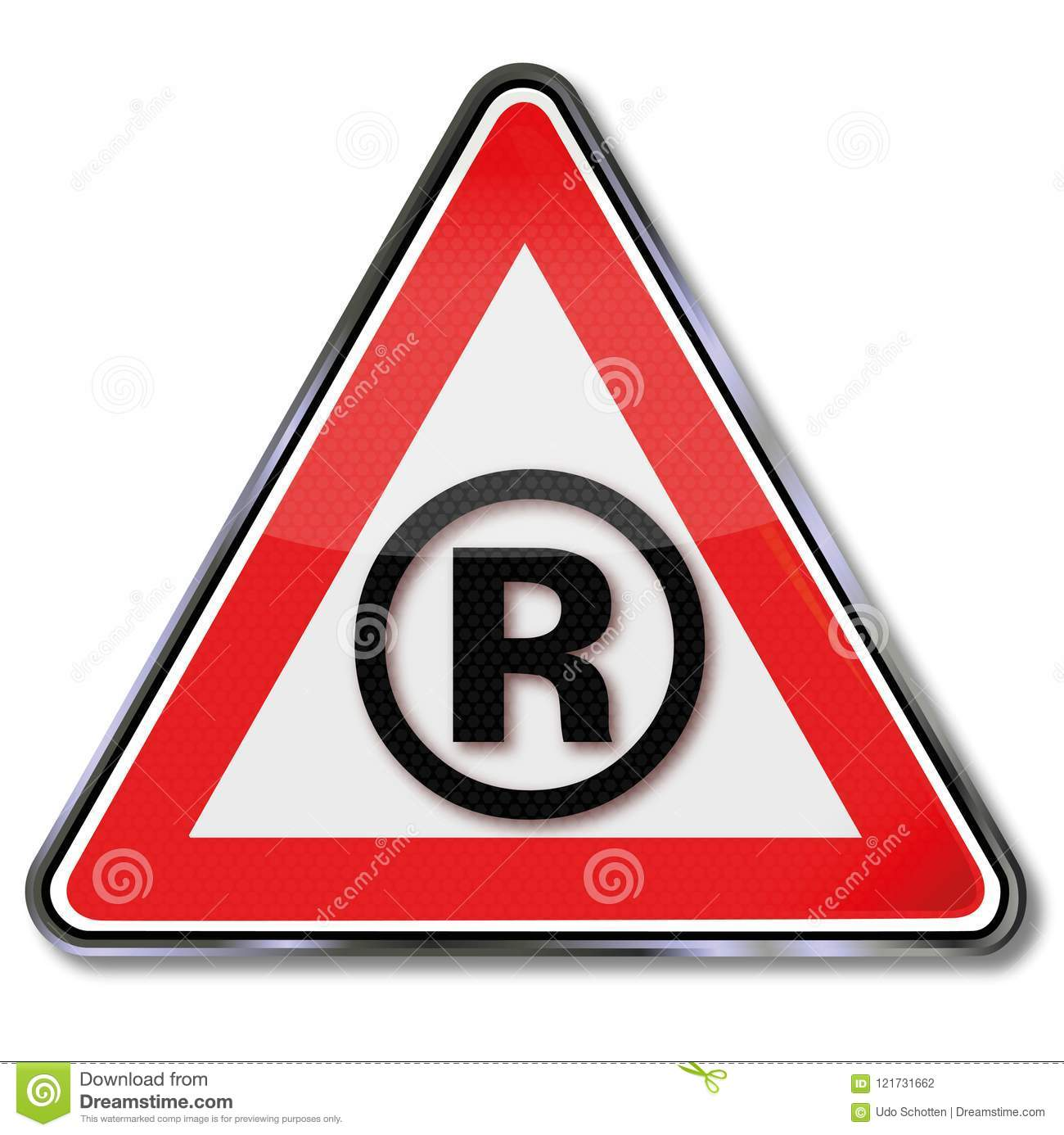 R And Trademark Stock Vector Illustration Of Signs 121731662