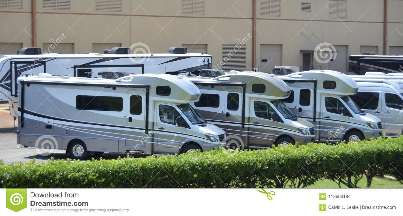 R V  Recreational Vehicles For Sale Editorial Stock Image