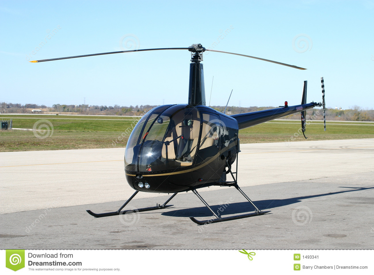 Elicottero R22 : R helicopter stock image image of betaii skids cabin