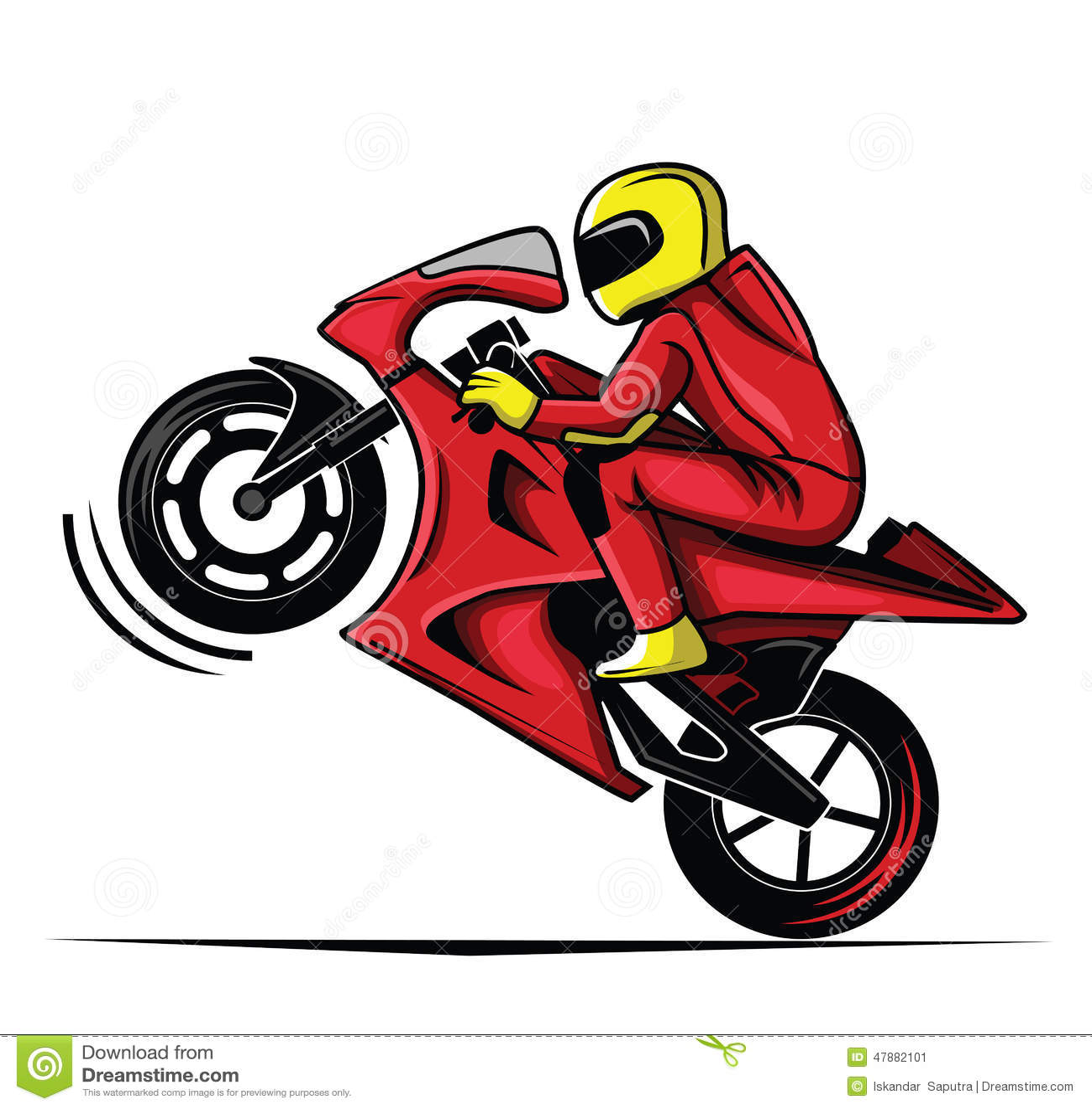 Raca De Moto Ilustracao Do Vetor Ilustracao De Desenho 47882101