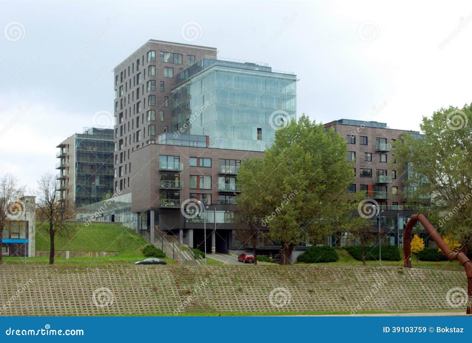 Raad van rivier Neris in Vilnius