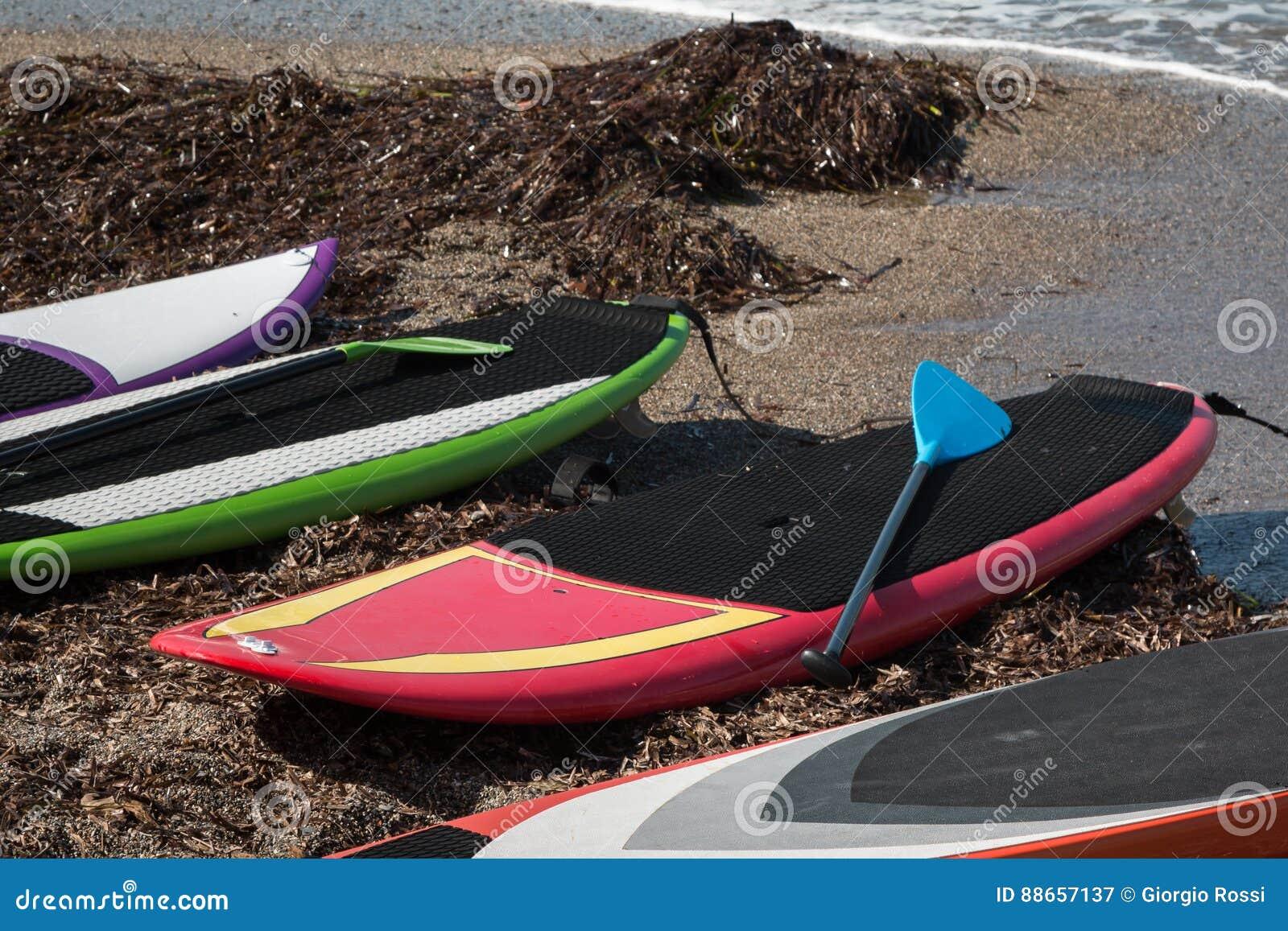 Raad voor Tribune wordt aangewezen die omhoog op het Strand surfen dat
