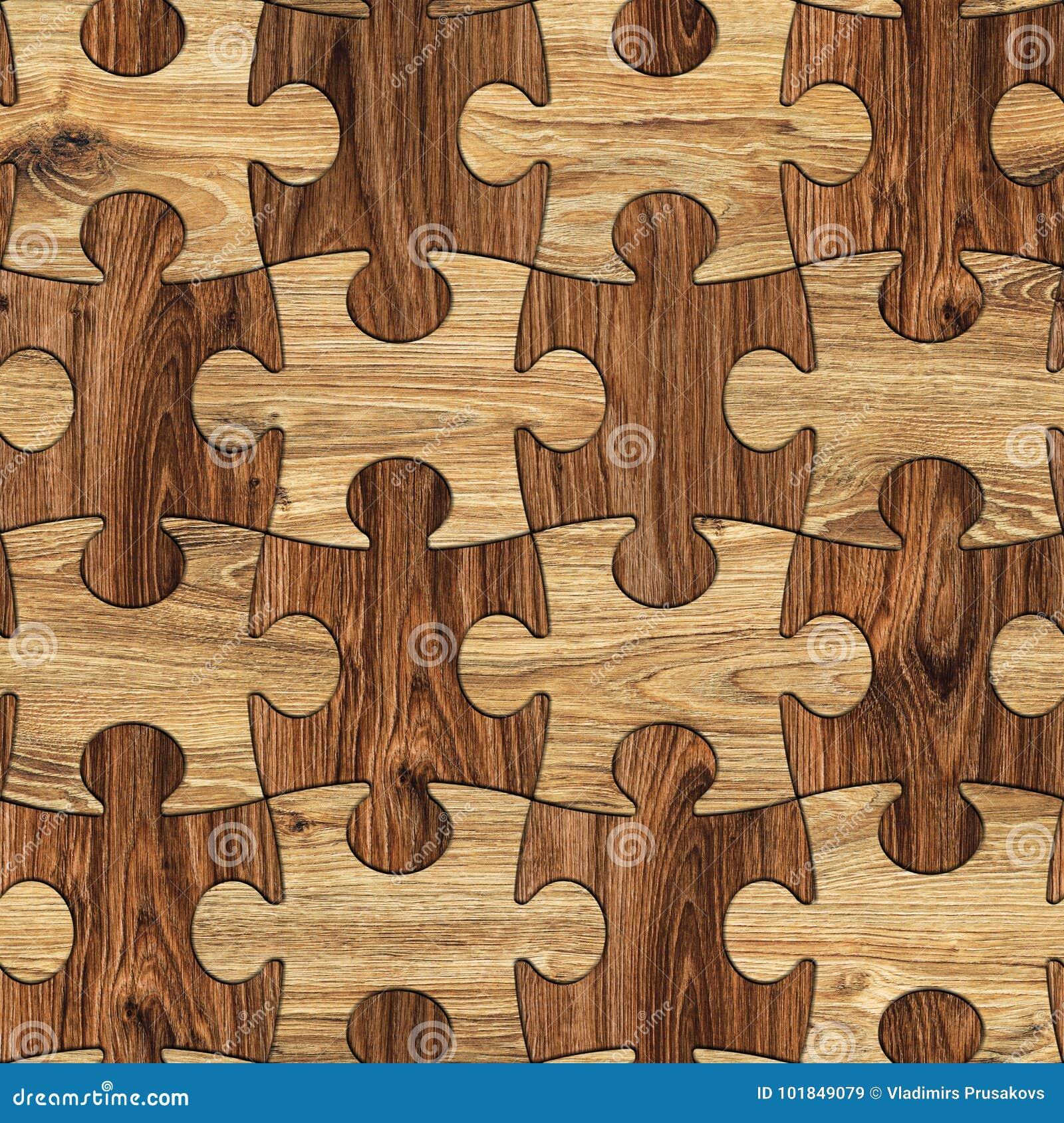 Raadsel Houten Naadloze Achtergrond, In verwarring gebrachte Bruine Houten Textuur