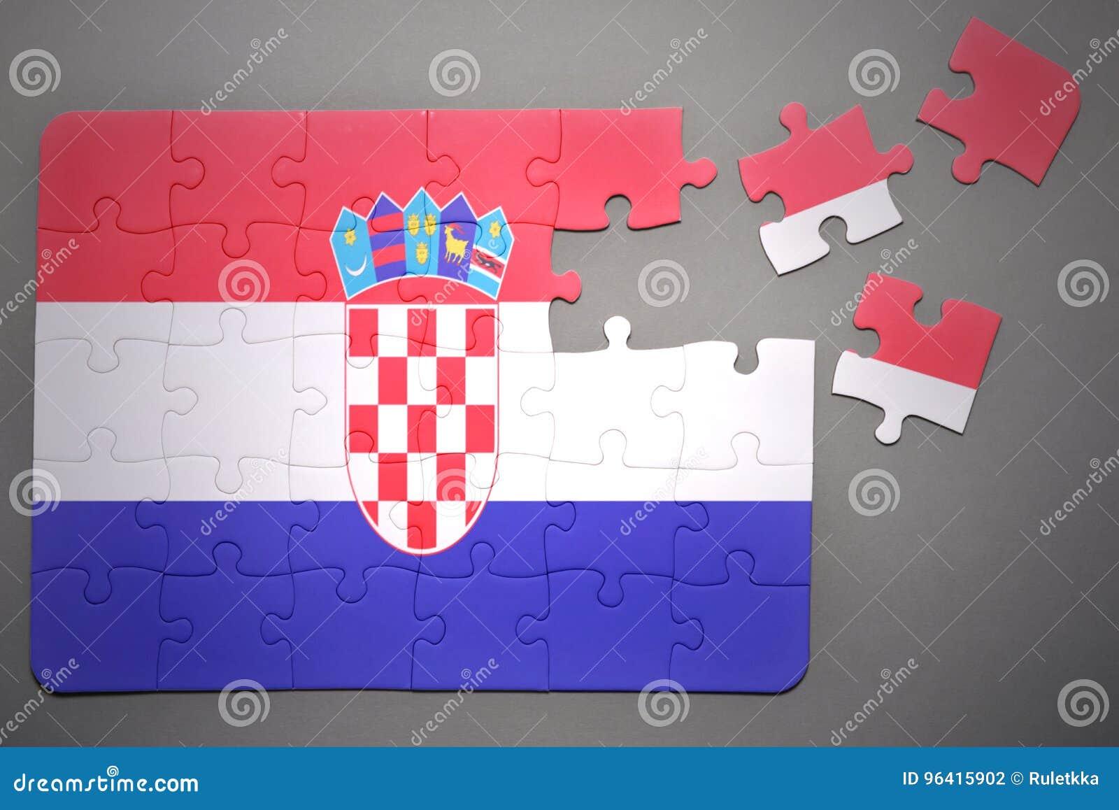 Raadsel met de nationale vlag van Kroatië