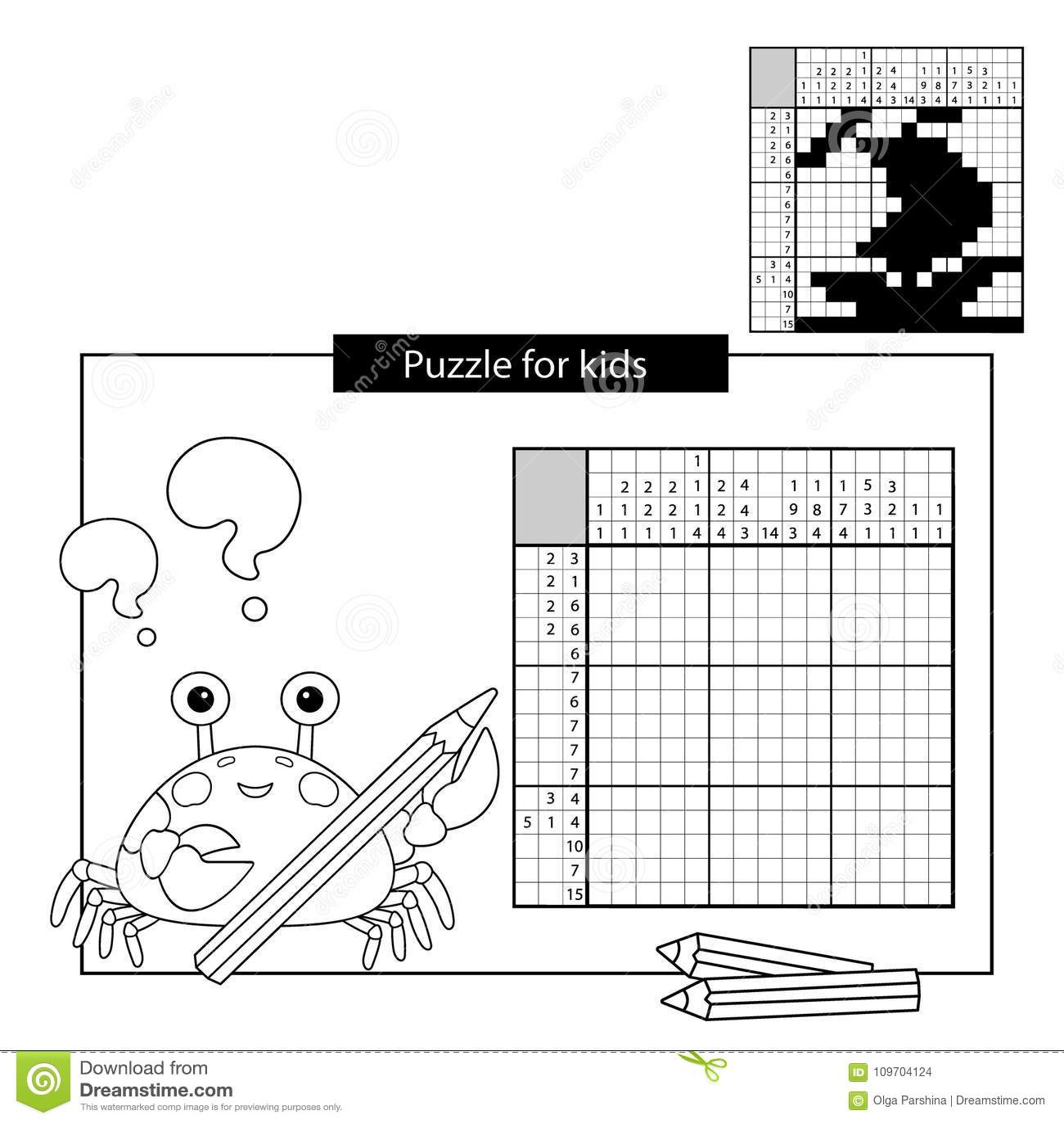 Raadselspel voor schoolkinderen Schip Zwart-wit Japans kruiswoordraadsel met antwoord Kleurend boek voor jonge geitjes