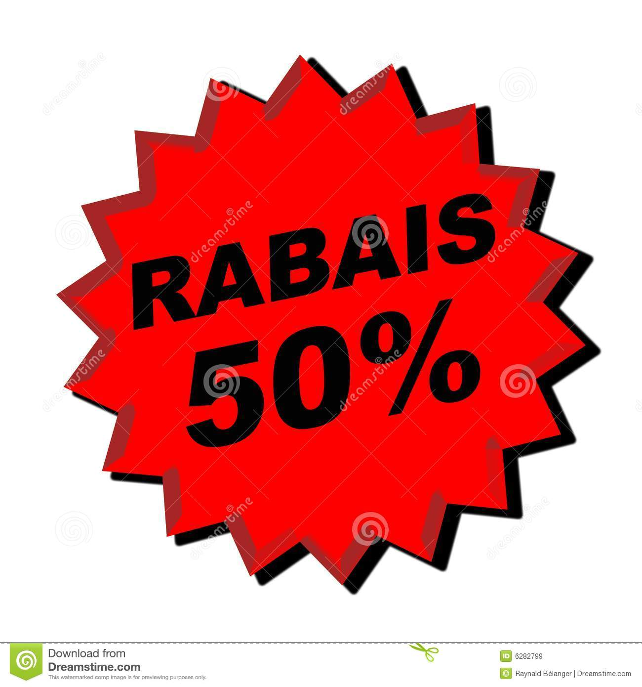 Rabais Sign Royalty Free Stock Images - Image: 6282799