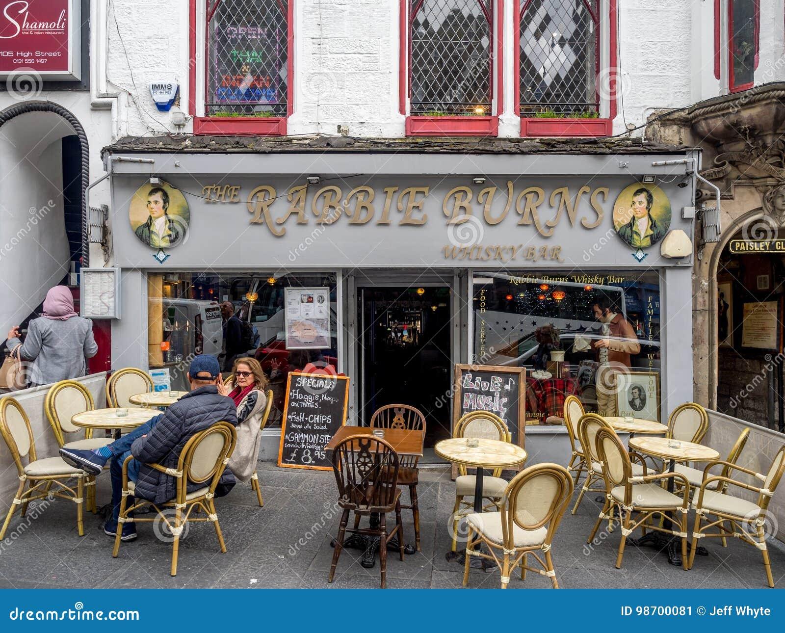Rabbie Burns Pub, Koninklijke Mijl, Edinburgh Schotland