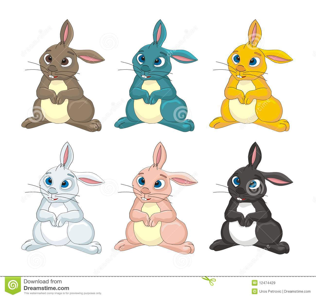 Rabbit Bunny Cartoon Vector Illustration Royalty Free ...