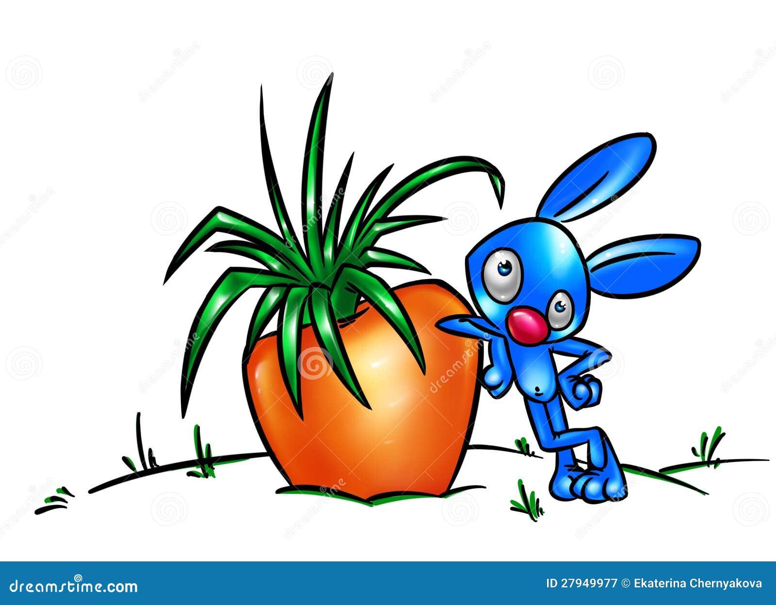 Cute Cartoon Rabbit Wi...