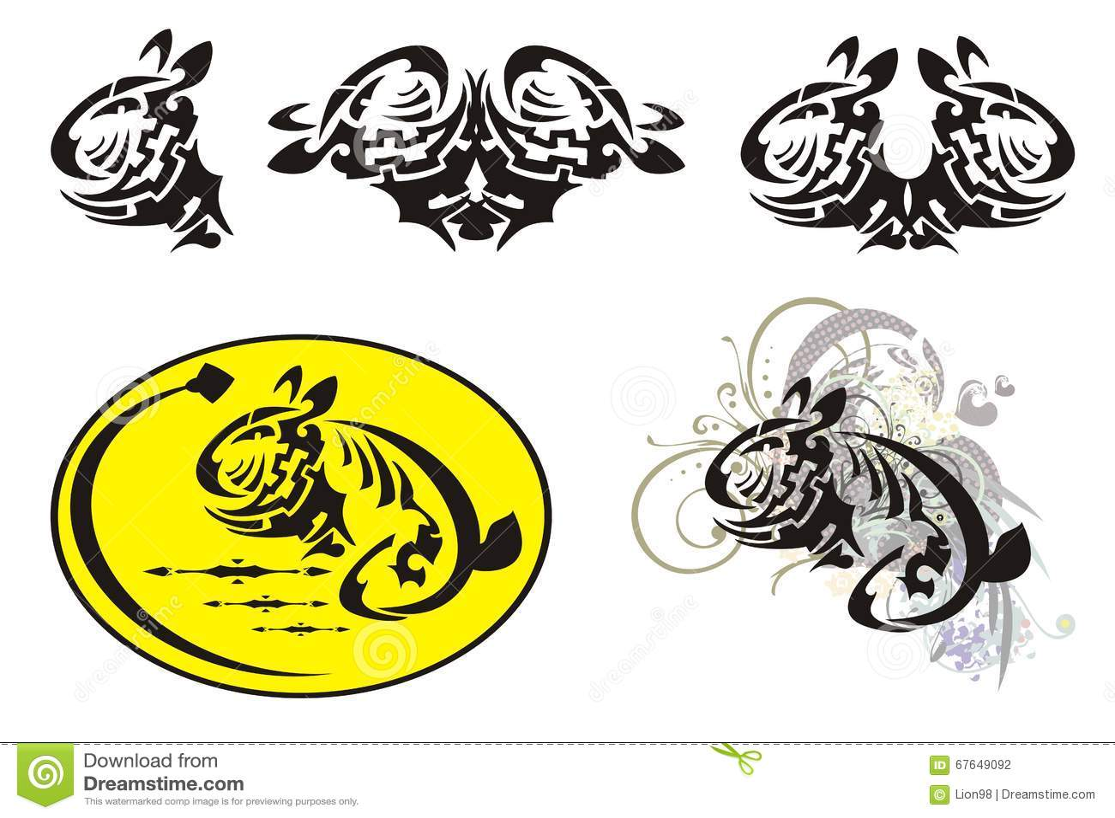 Rabbit and egg easter symbols in tribal style stock vector rabbit and egg easter symbols in tribal style buycottarizona