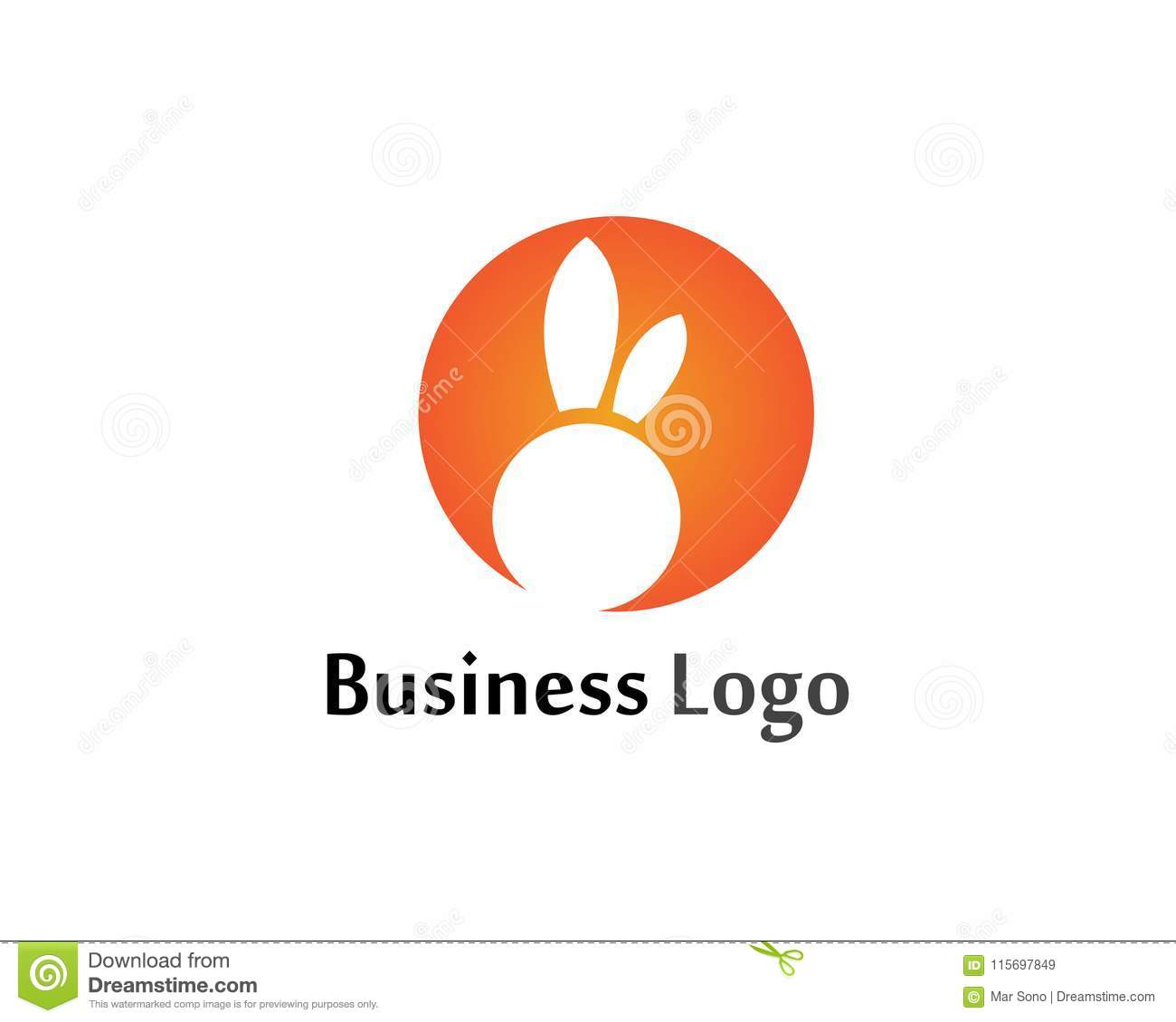rabbit logo template vector icon design template app stock vector