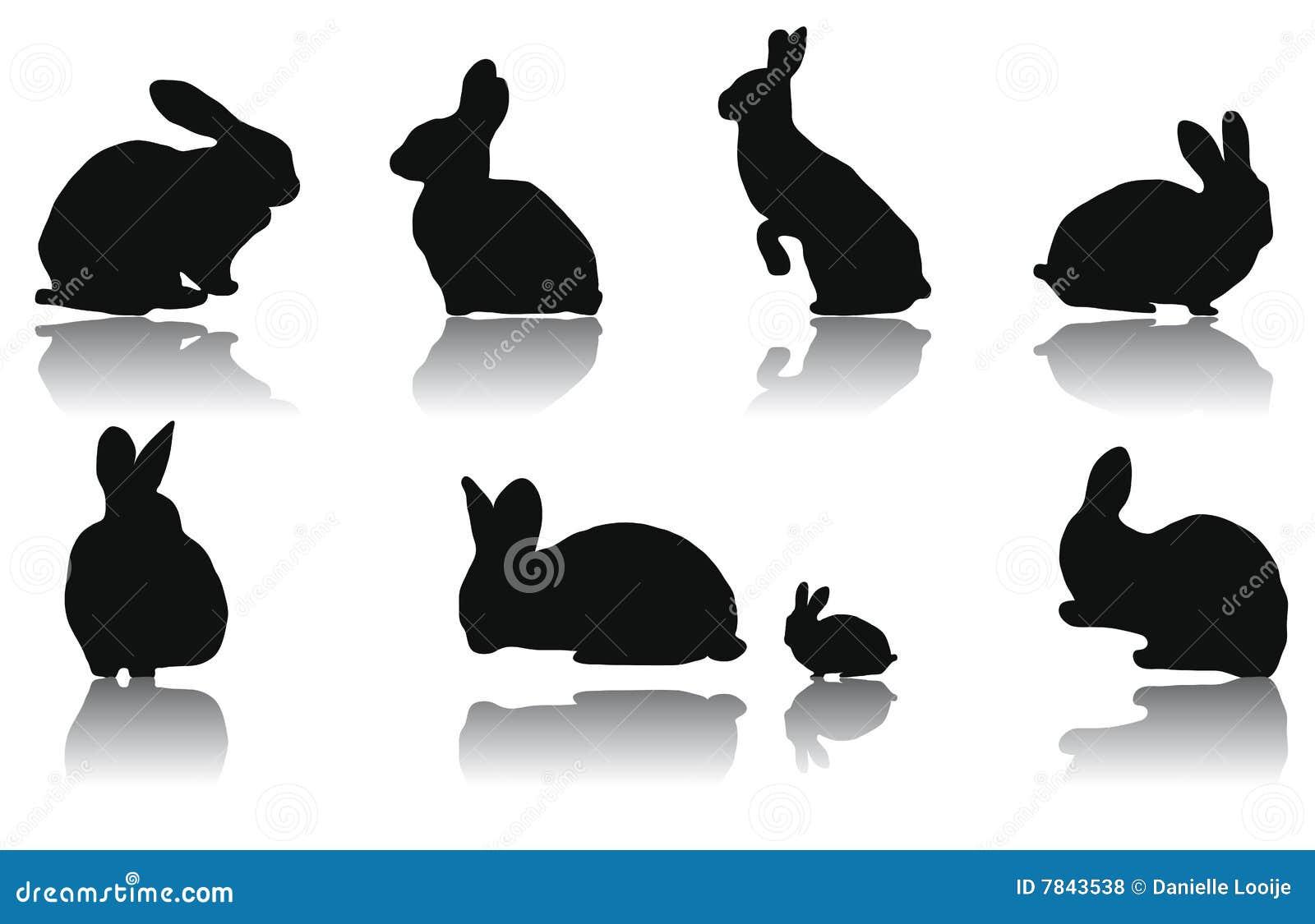 Rabbit Ears Silhouette Rabbit Silhouettes Royalty