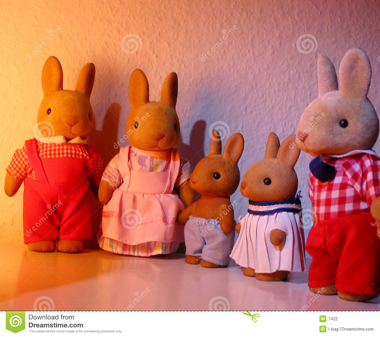 Toys For Family : Rabbit toy family stock photo image of easter puppet