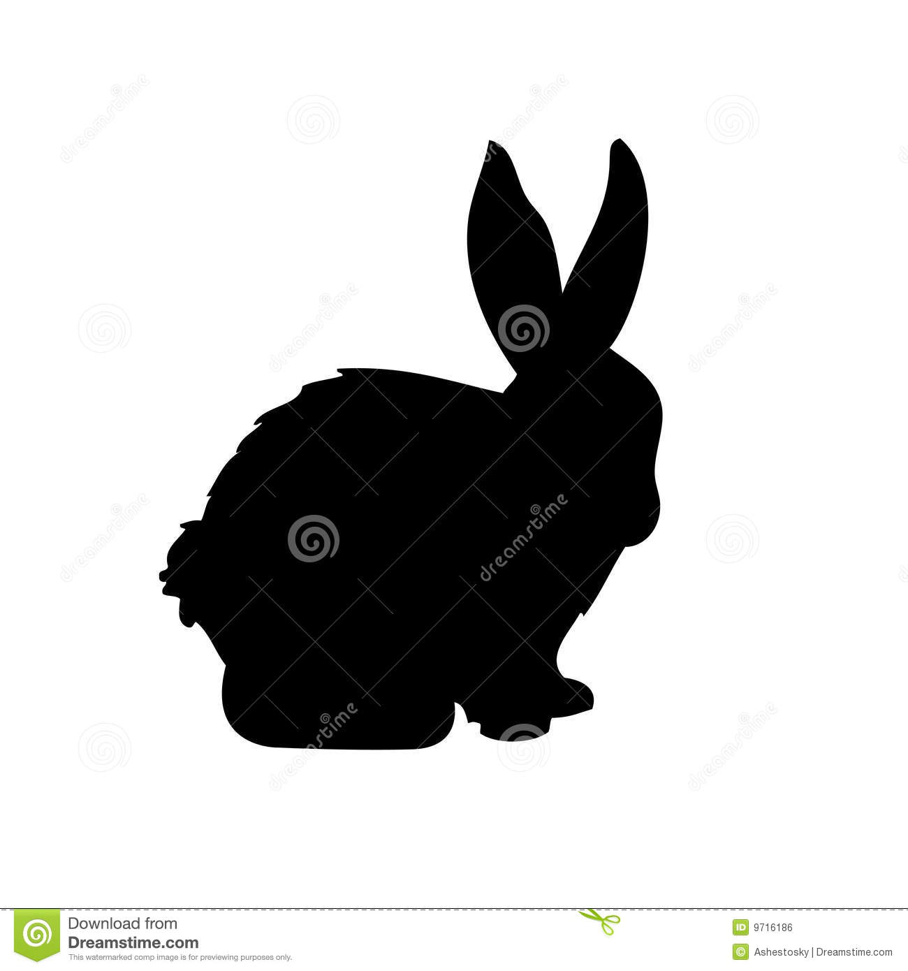 Rabbit vector silhouette