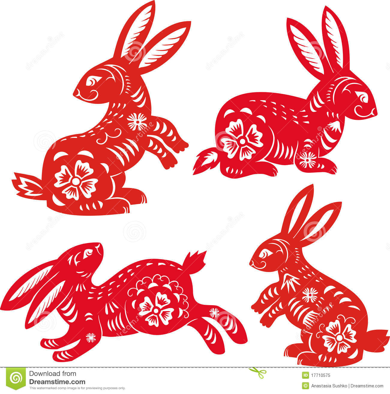 rabbit year chinese zodiac stock vector illustration 17710575. Black Bedroom Furniture Sets. Home Design Ideas