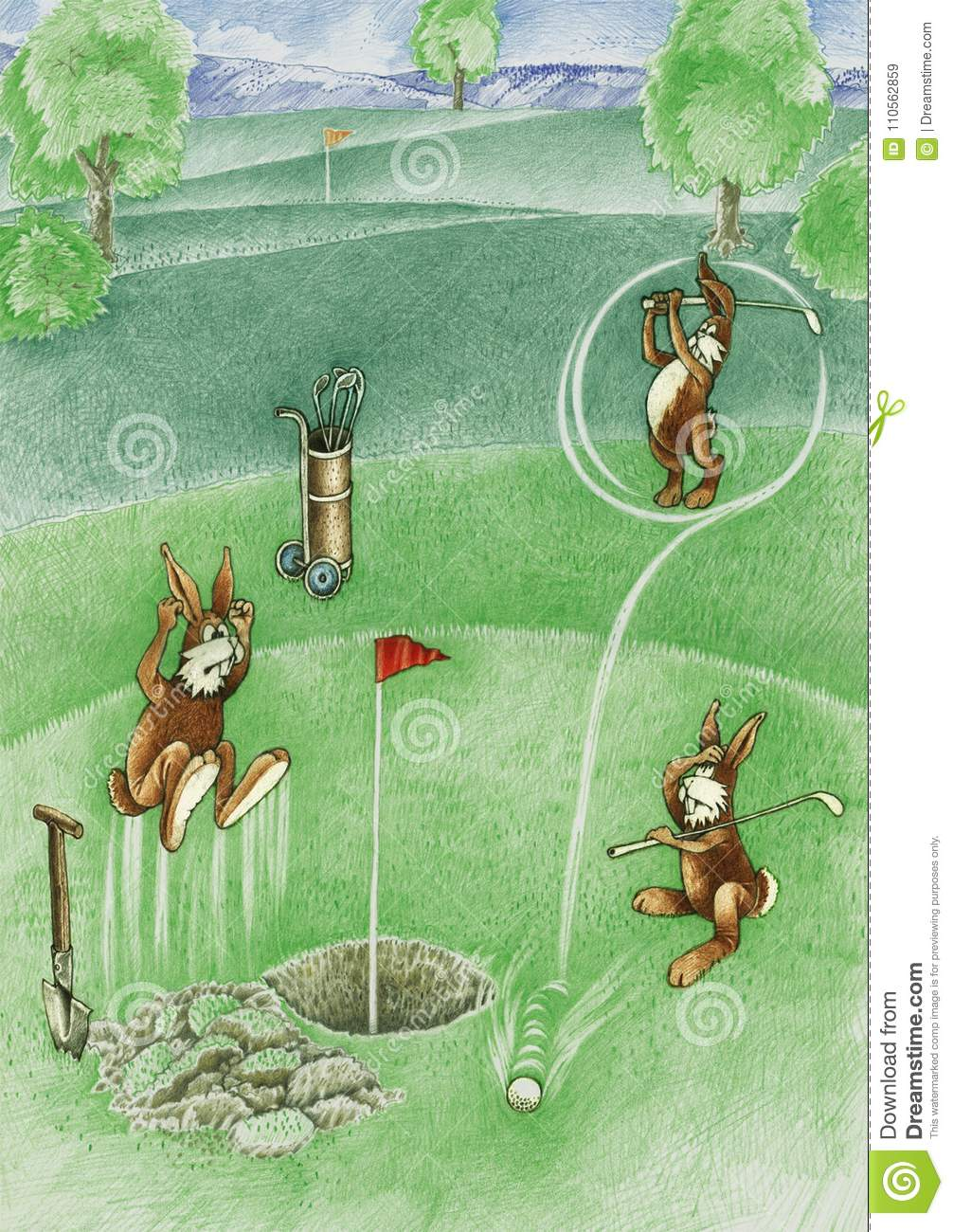 Hares are playing the golf stock illustration. Illustration of golf on lion on golf course, lamb on golf course, monkey on golf course, eagle on golf course, coyote on golf course, baboon on golf course, cow on golf course, gopher on golf course, helicopter on golf course, kangaroo on golf course, fox on golf course, bear on golf course, elk on golf course, fish on golf course, pigs on golf course, geese on golf course, ram on golf course, raccoons on golf course, deer on golf course, rattlesnake on golf course,