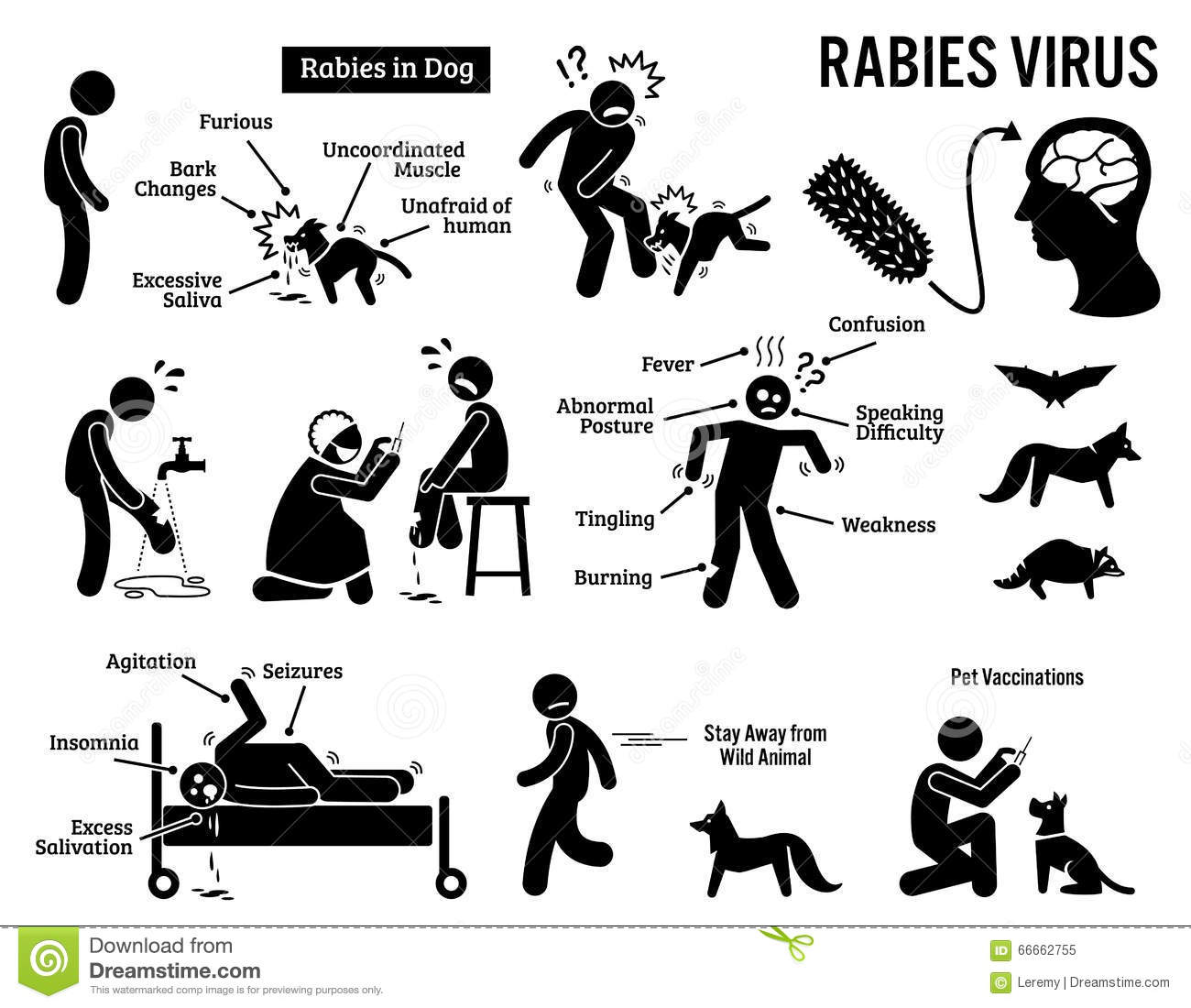 ... Virus In Human And Animal Clipart Stock Vector - Image: 66662755