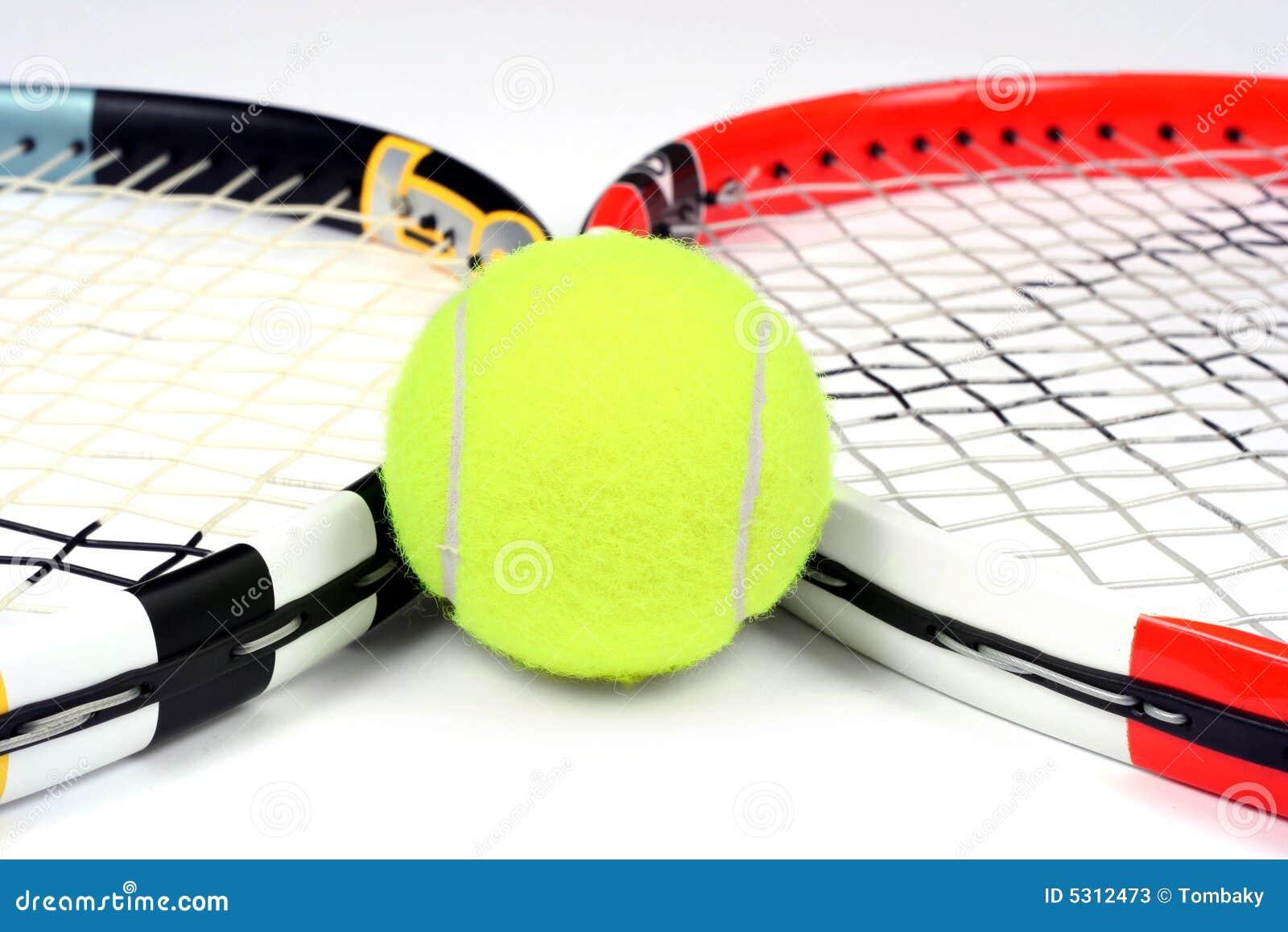 Download Racchetta E Sfera Di Tennis Due Immagine Stock - Immagine di stringed, titanio: 5312473