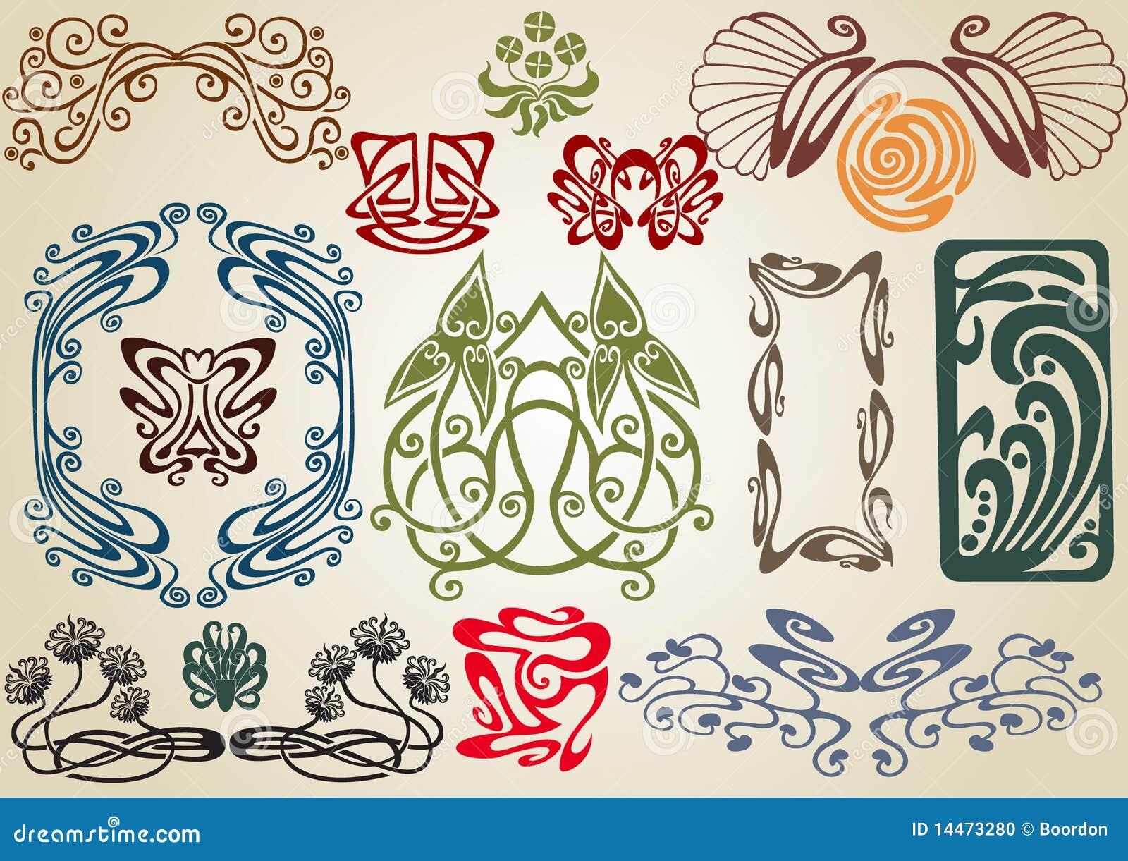 Art Nouveau Graphics Design