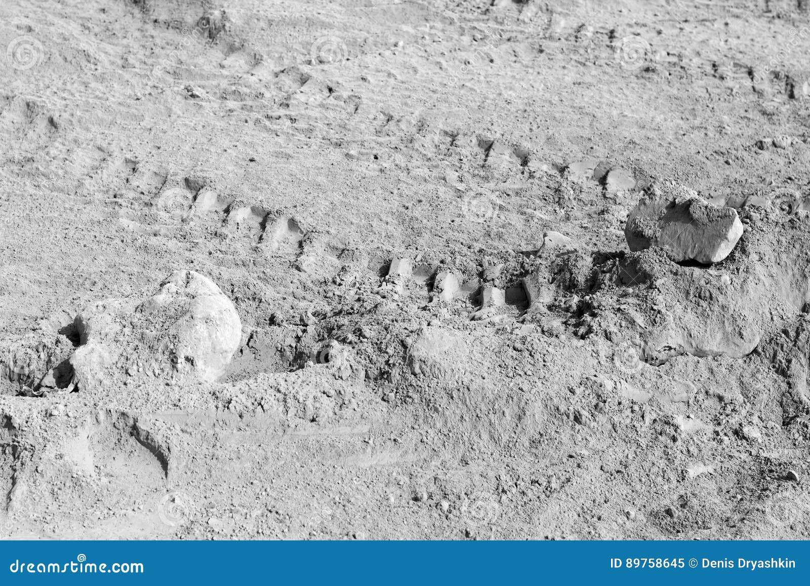 Raccolta degli ambiti di provenienza - uno strato spesso di cemento sulla terra