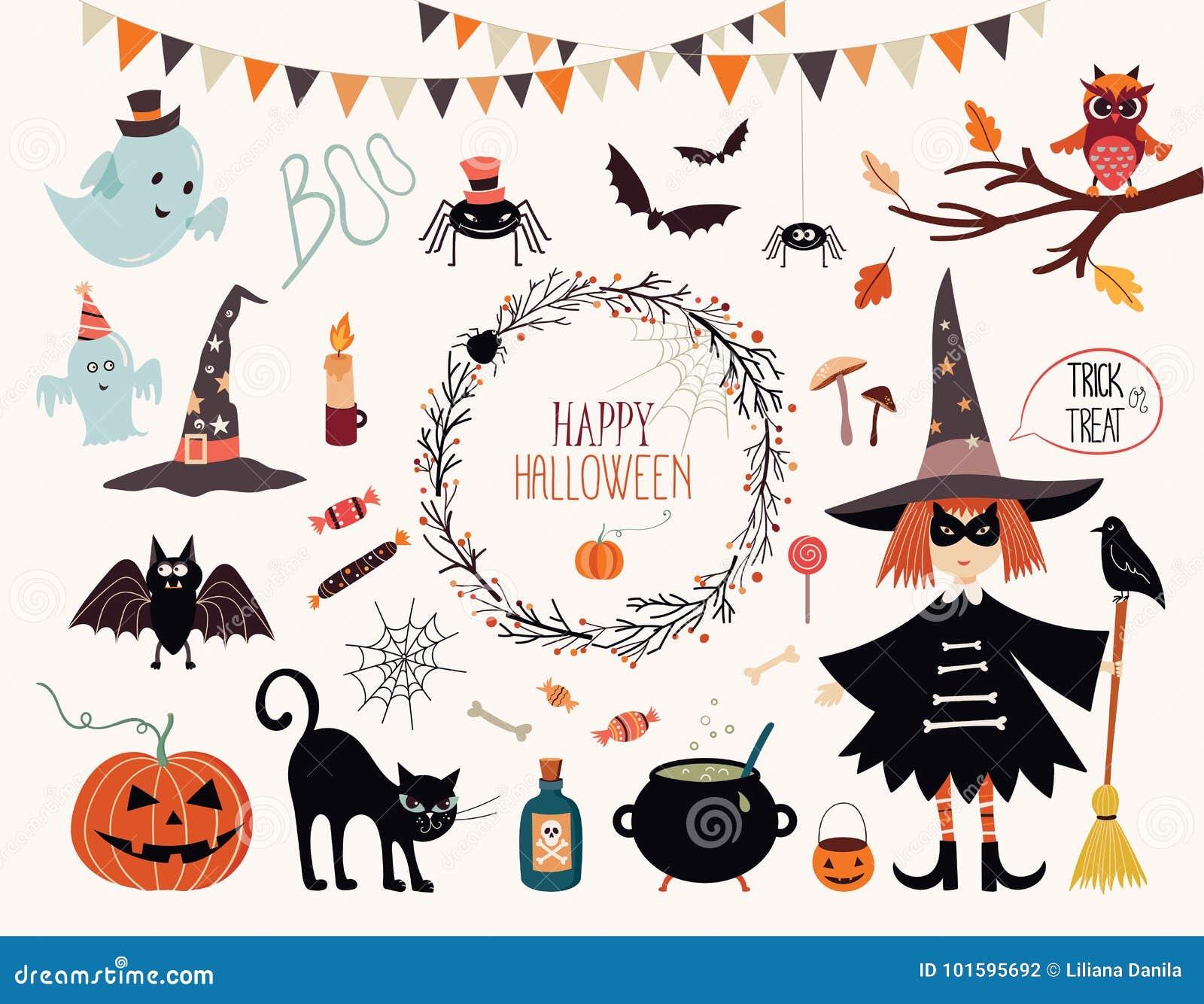 Raccolta degli elementi di Halloween