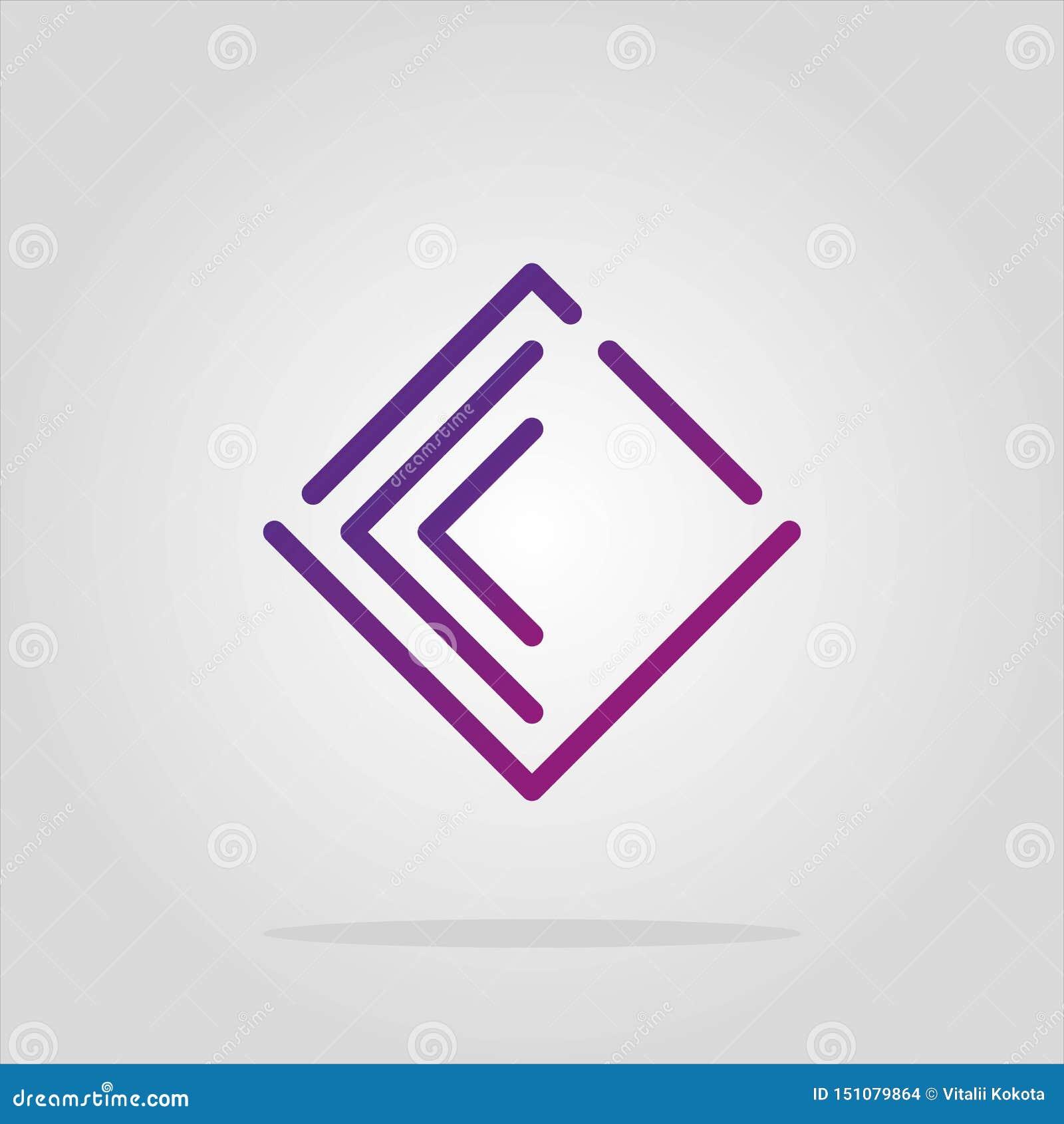 Raccolta degli elementi di logo del romb dell estratto di vettore Progettazione materiale, piano, stili di linea-arte Simbolo del