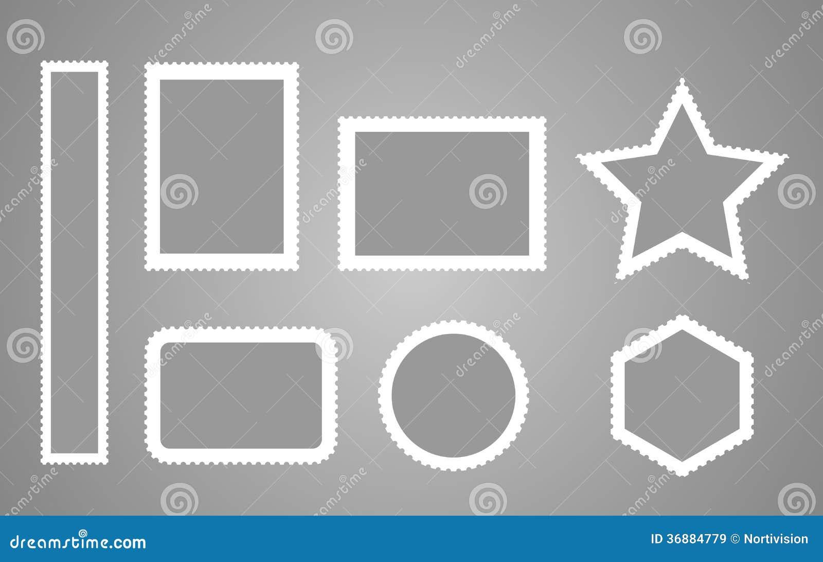 Download Raccolta Dei Francobolli In Bianco Illustrazione Vettoriale - Illustrazione di vuoto, perforato: 36884779