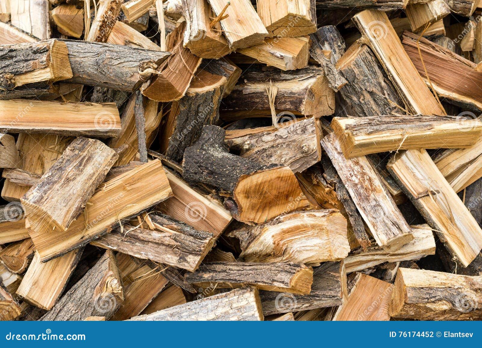 Raccolta del legno per il periodo di riscaldamento nellinverno