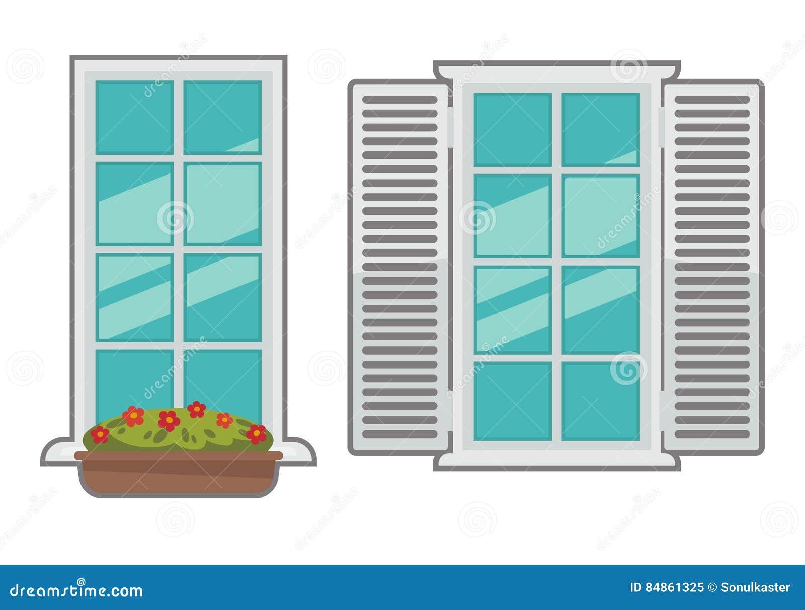 Raccolta delle finestre di vettore di vari tipi - Tipi di finestre ...