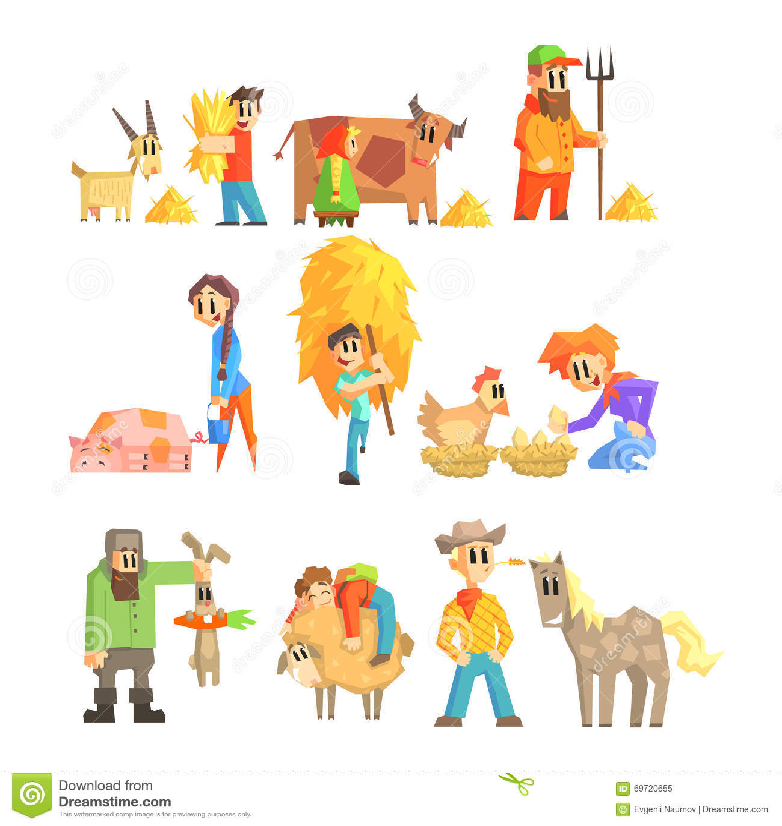 Raccolta delle illustrazioni della fattoria degli animali for Piani di progettazione della fattoria