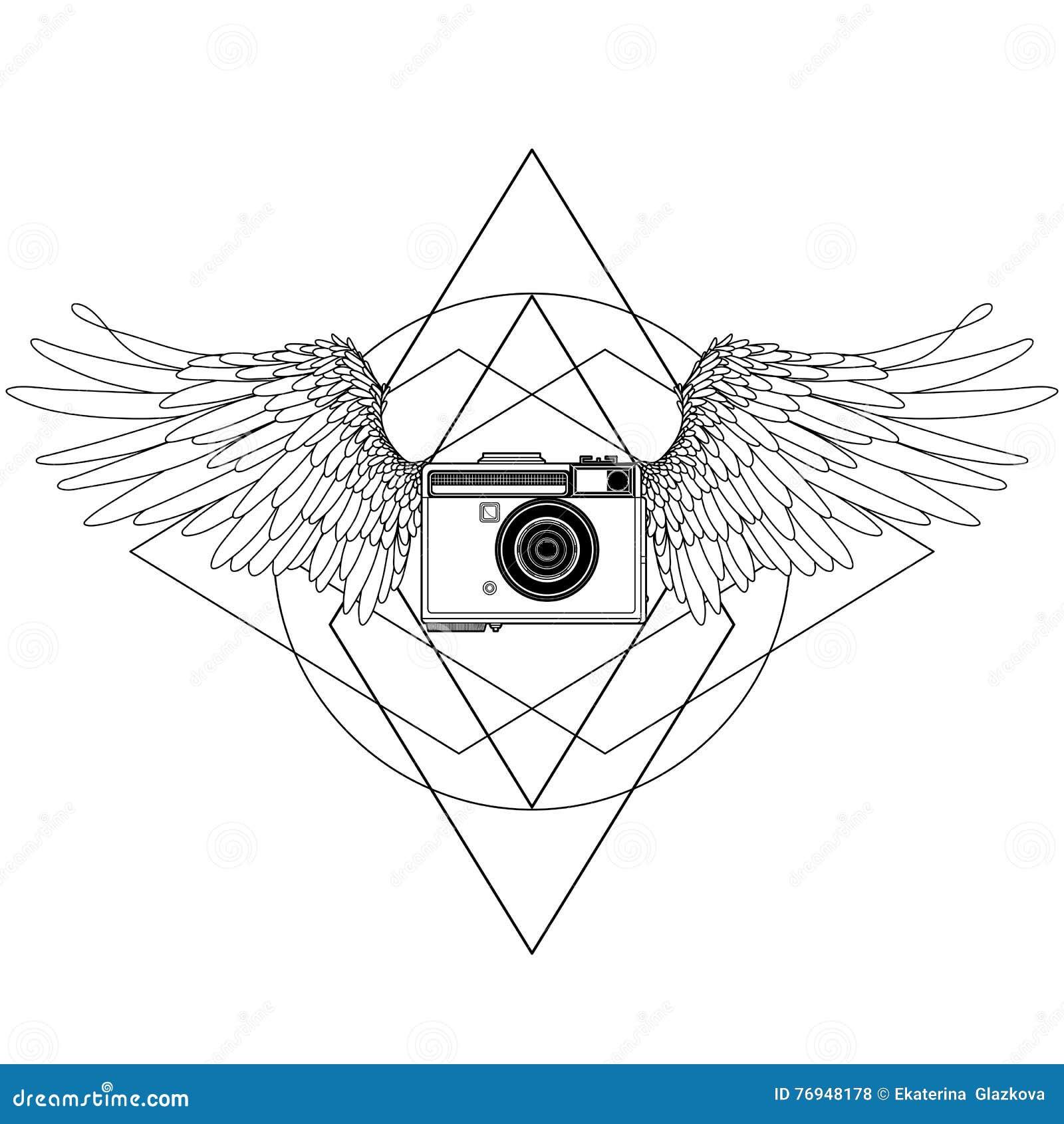 Raccolta Delle Macchine Fotografiche Disegnate A Mano D Annata