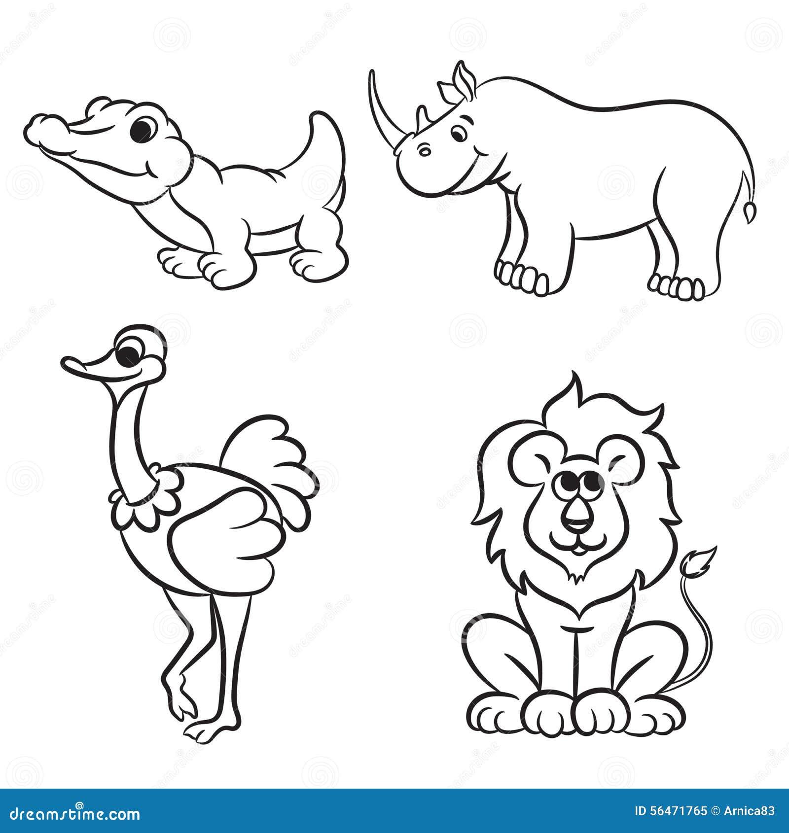 Disegni Da Colorare Degli Animali Dello Zoo